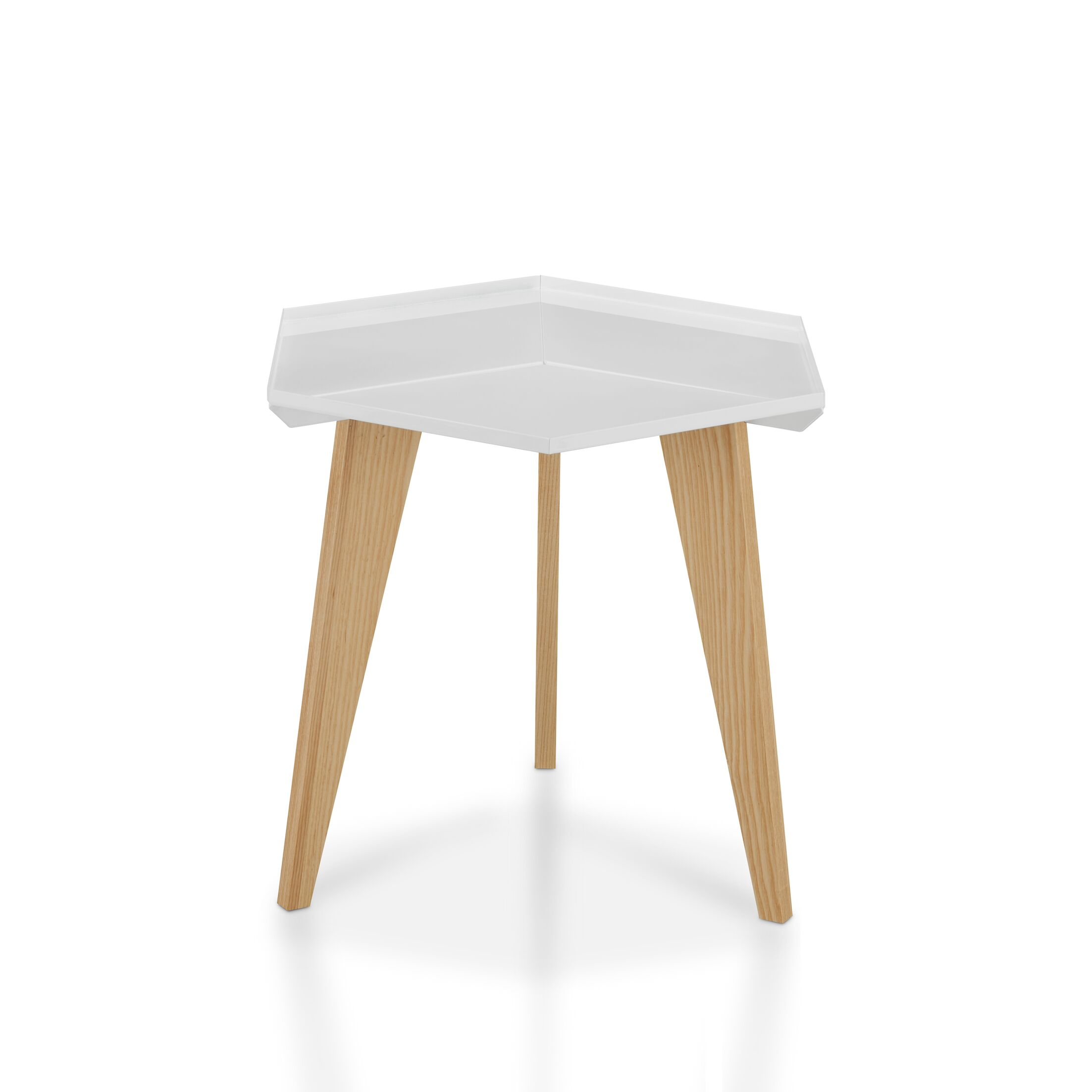 Eteuati End Table Color: White