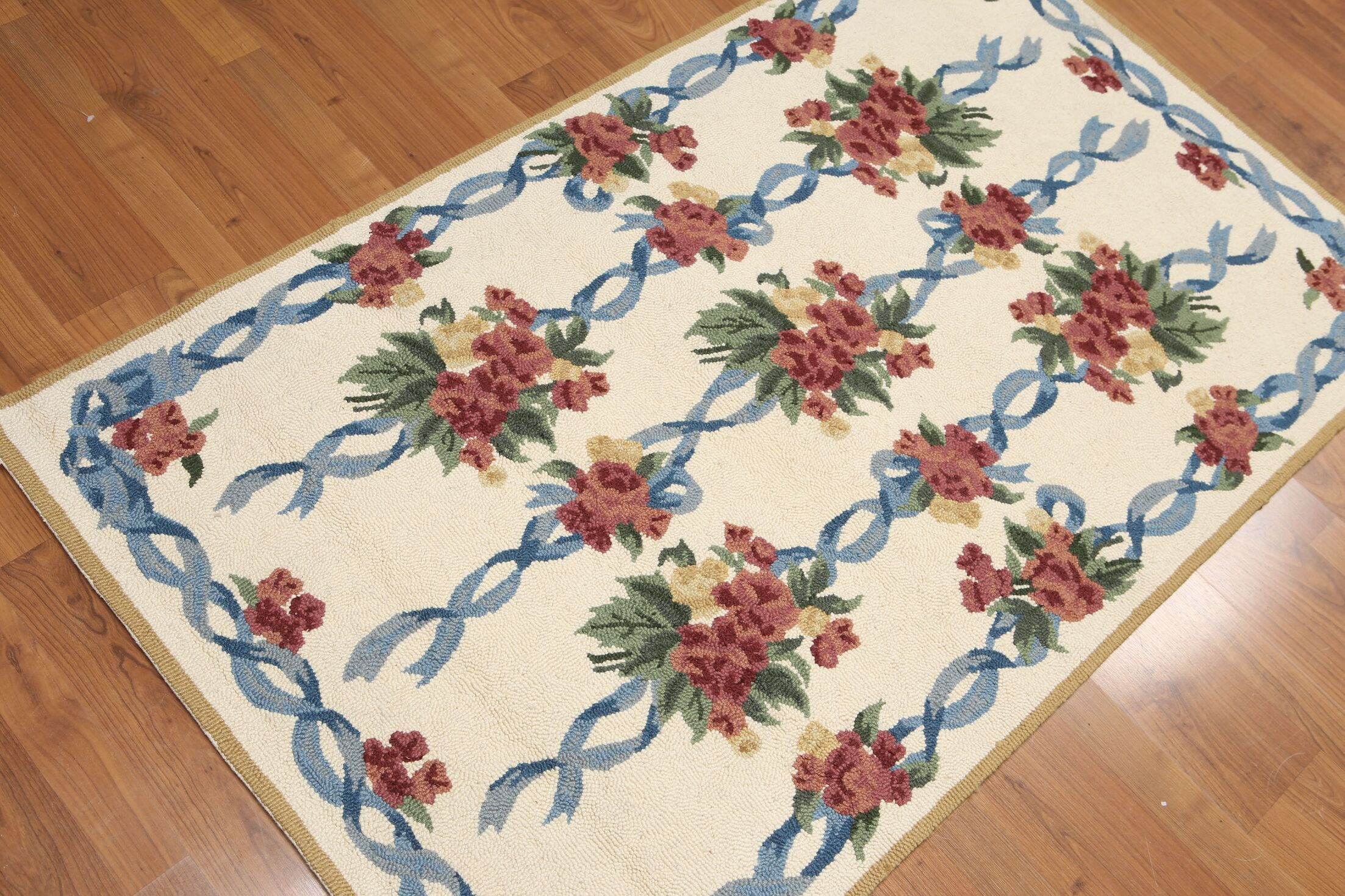 One-of-a-Kind Gere Hand-Knotted Wool Beige/Red/Brown Area Rug