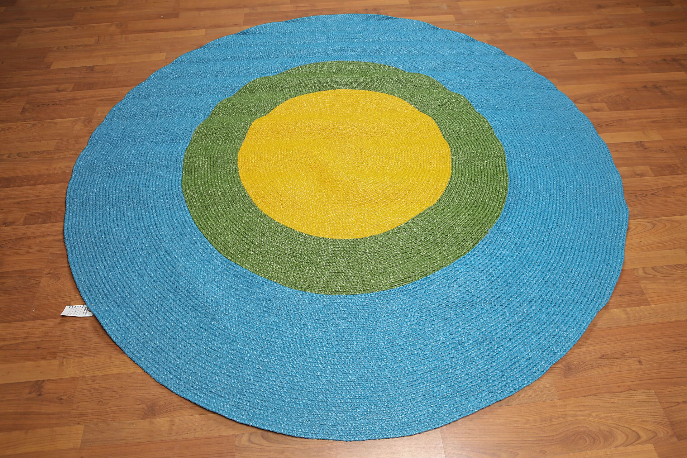 One-of-a-Kind Kilby Braided Hand-Knotted Blue/Yellow Area Rug