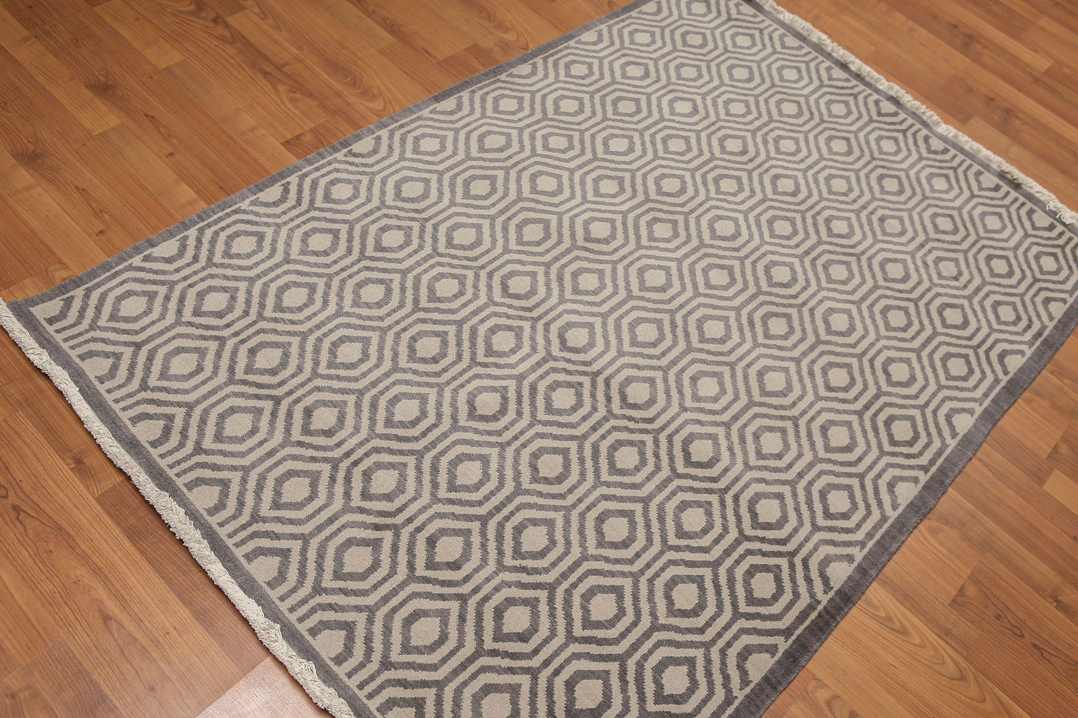 One-of-a-Kind Doyal Hand-Knotted Wool Gray Area Rug