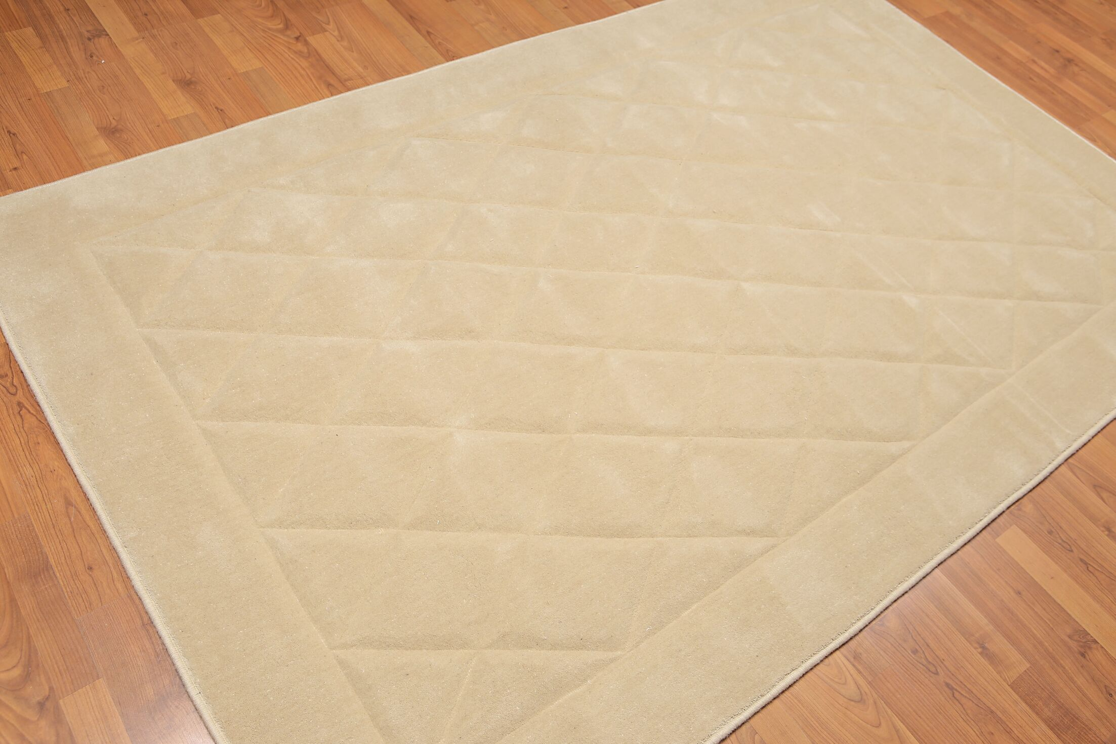 One-of-a-Kind Matina Hand-Knotted Wool Beige Area Rug