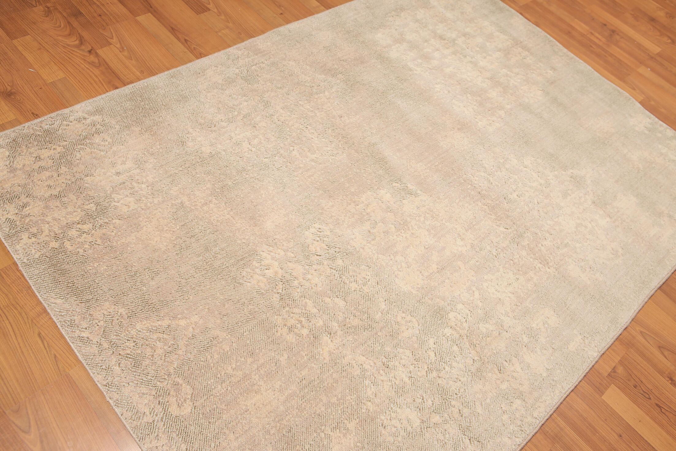 One-of-a-Kind Harlow Hand-Knotted Wool Beige Area Rug