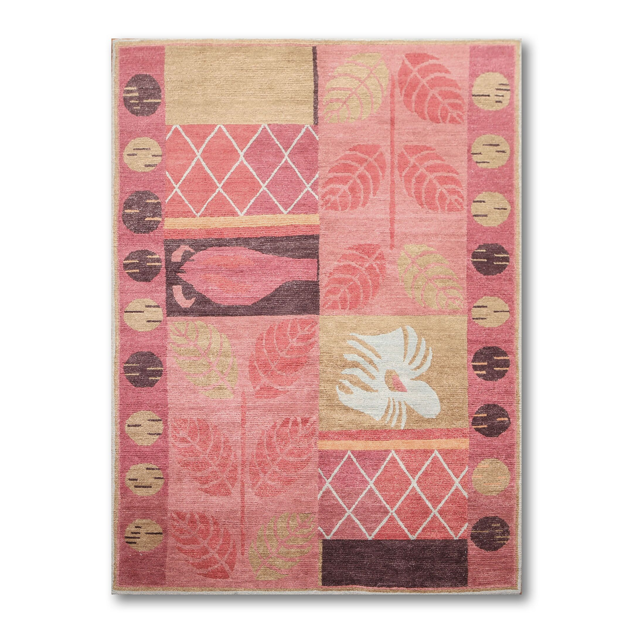 One-of-a-Kind Pulido Hand-Knotted Wool Pink Area Rug