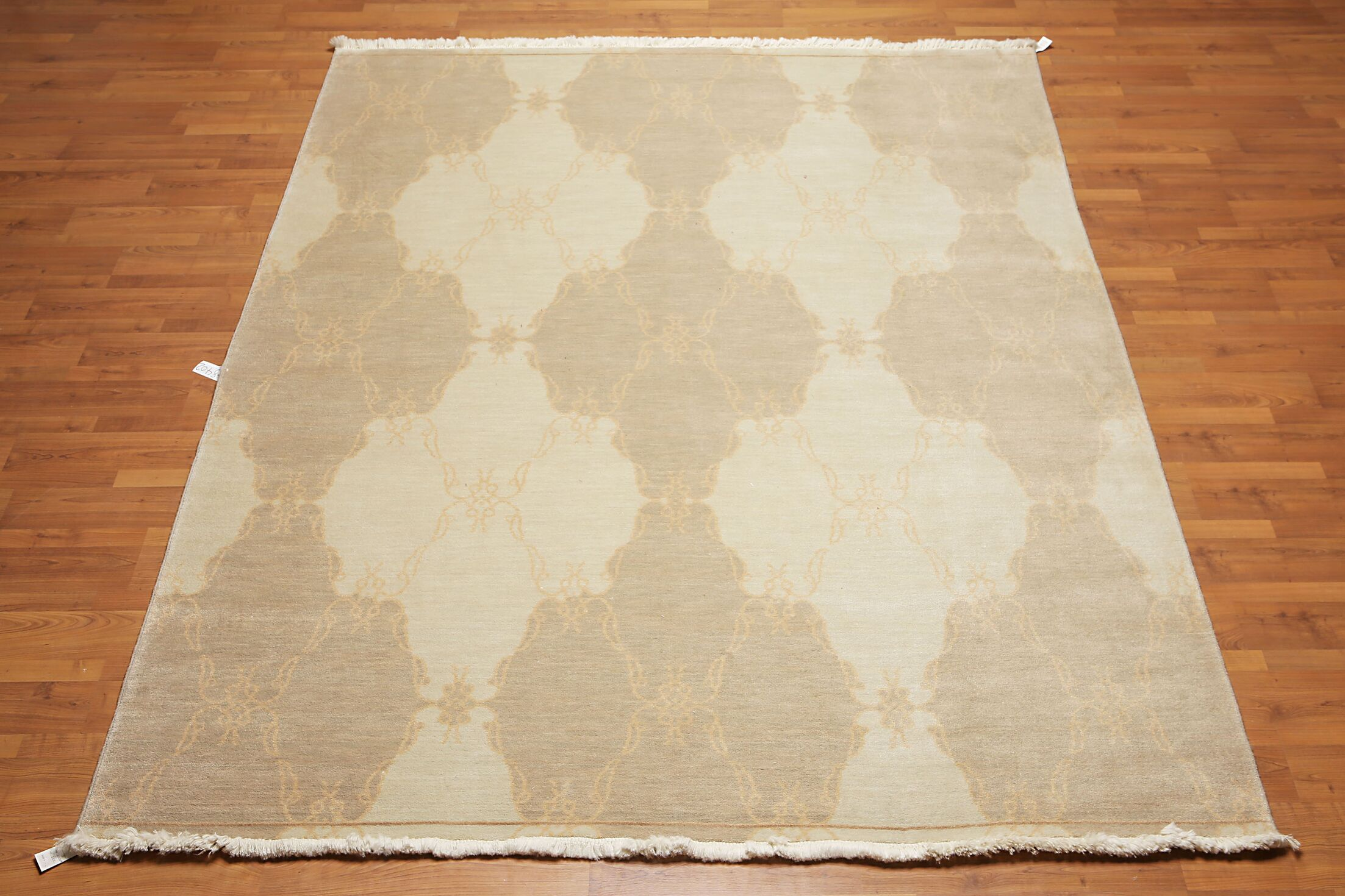 One-of-a-Kind Quesada Hand-Knotted Wool Beige Area Rug