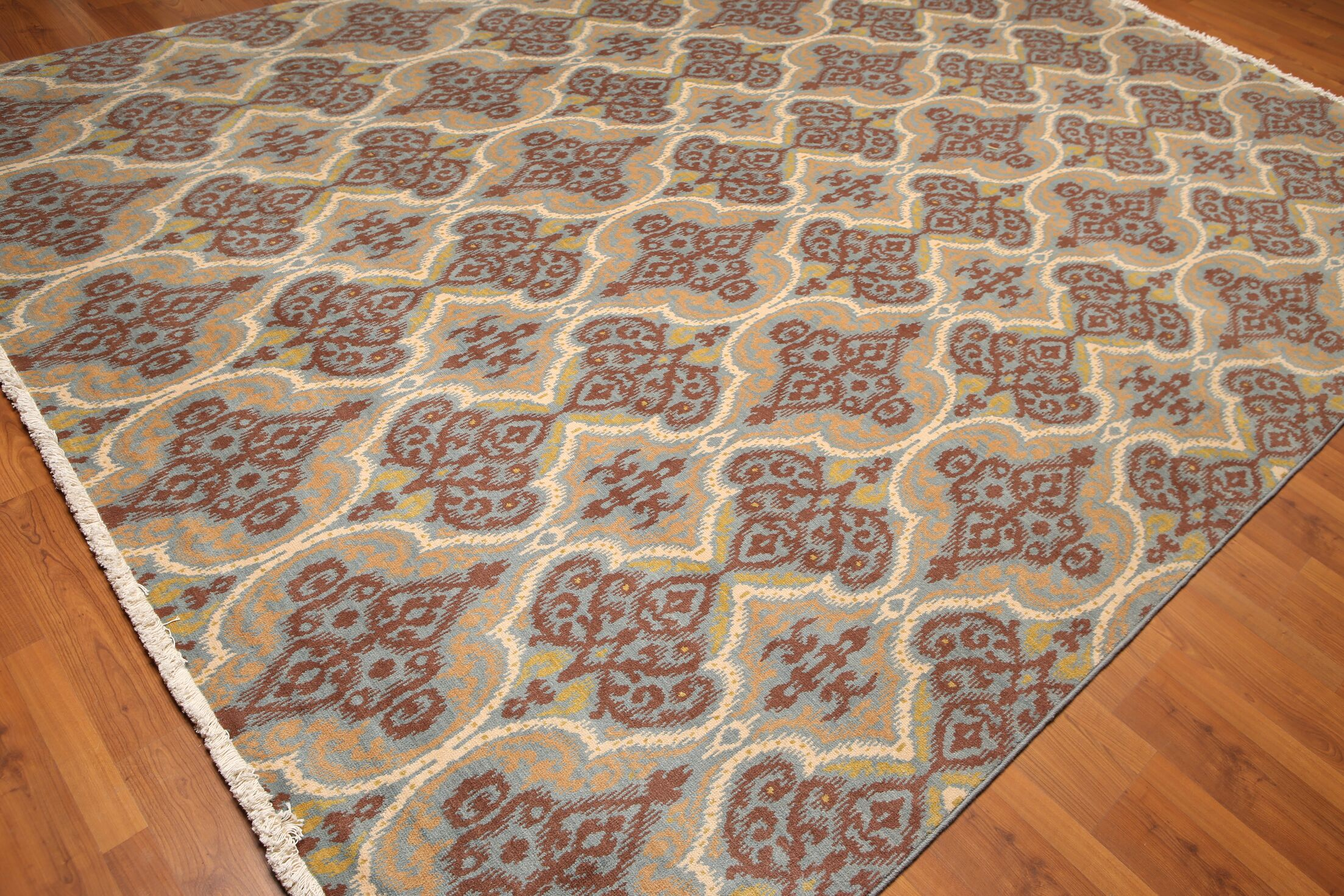 One-of-a-Kind Prisco Pile Hand-Knotted Wool Brown Area Rug