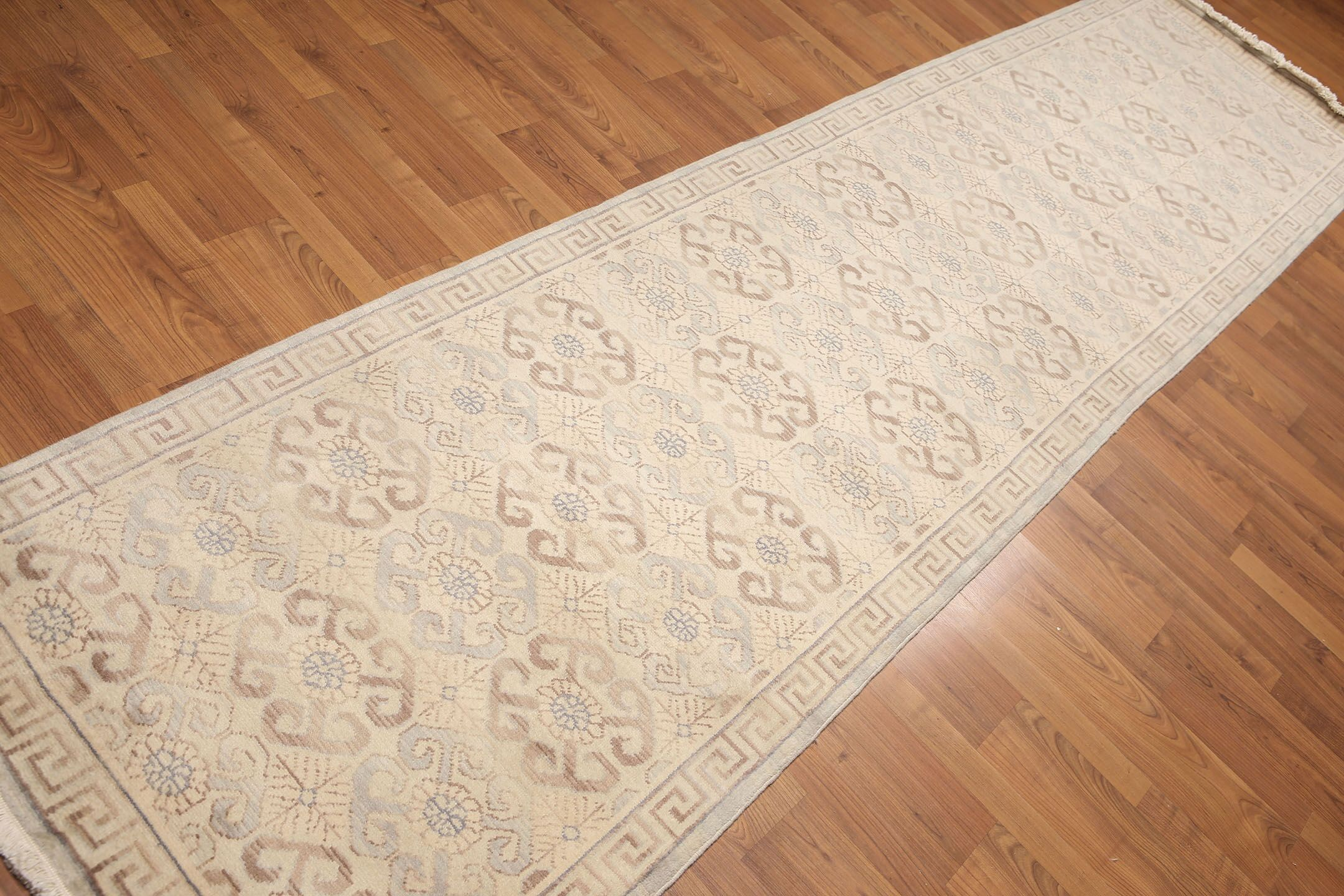 One-of-a-Kind Henley Hand-Knotted Wool Beige Area Rug