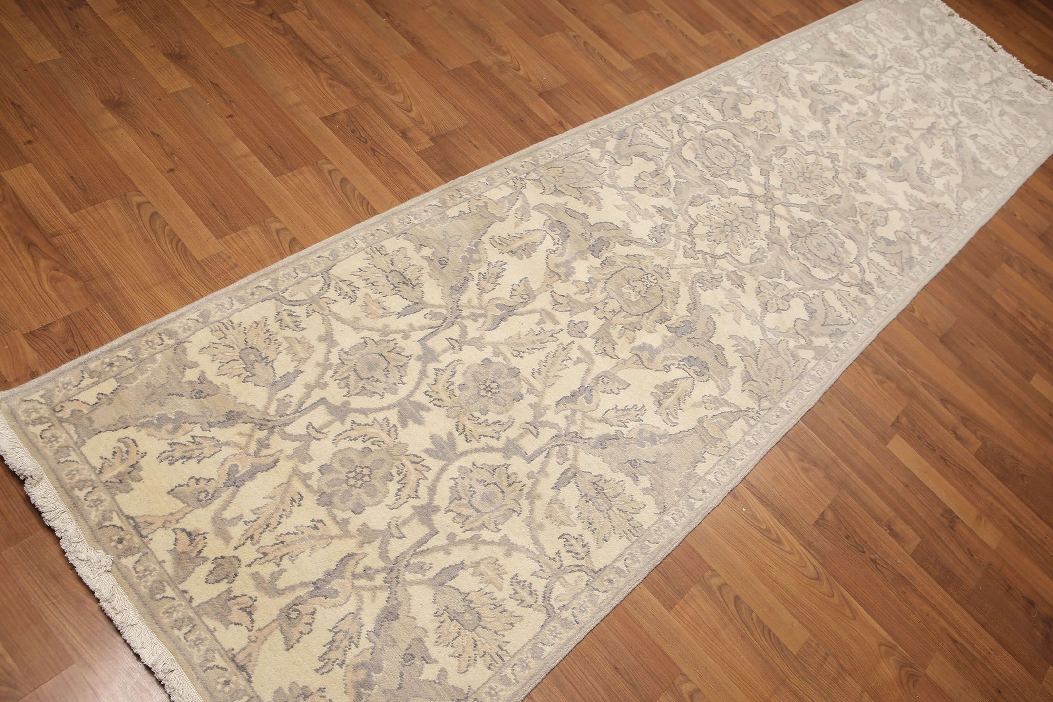 One-of-a-Kind Hepscott Hand-Knotted Wool Gray/Beige Area Rug