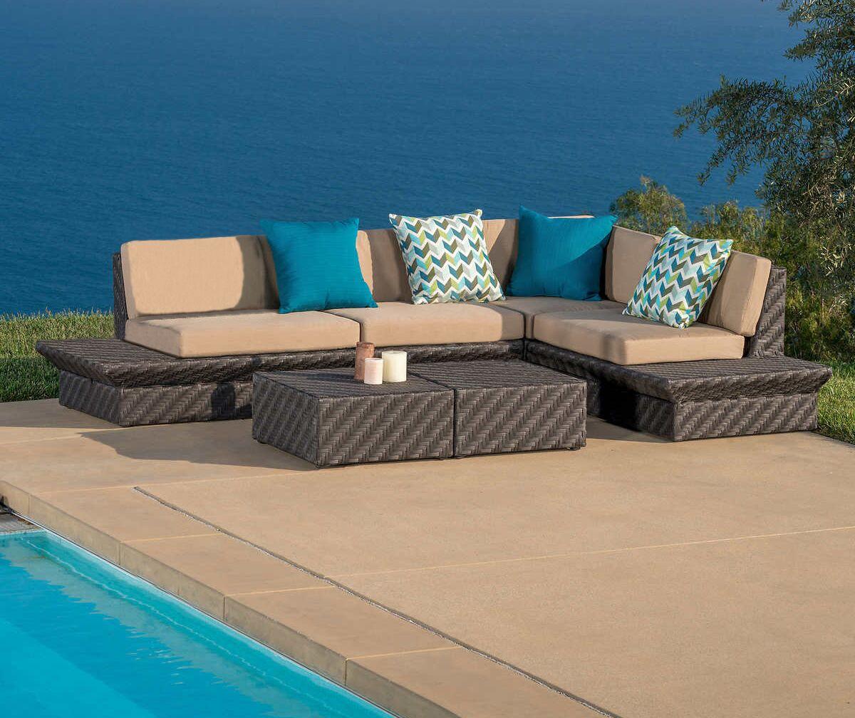 Tony 5 Piece Sunbrella Sectional Set with Cushions