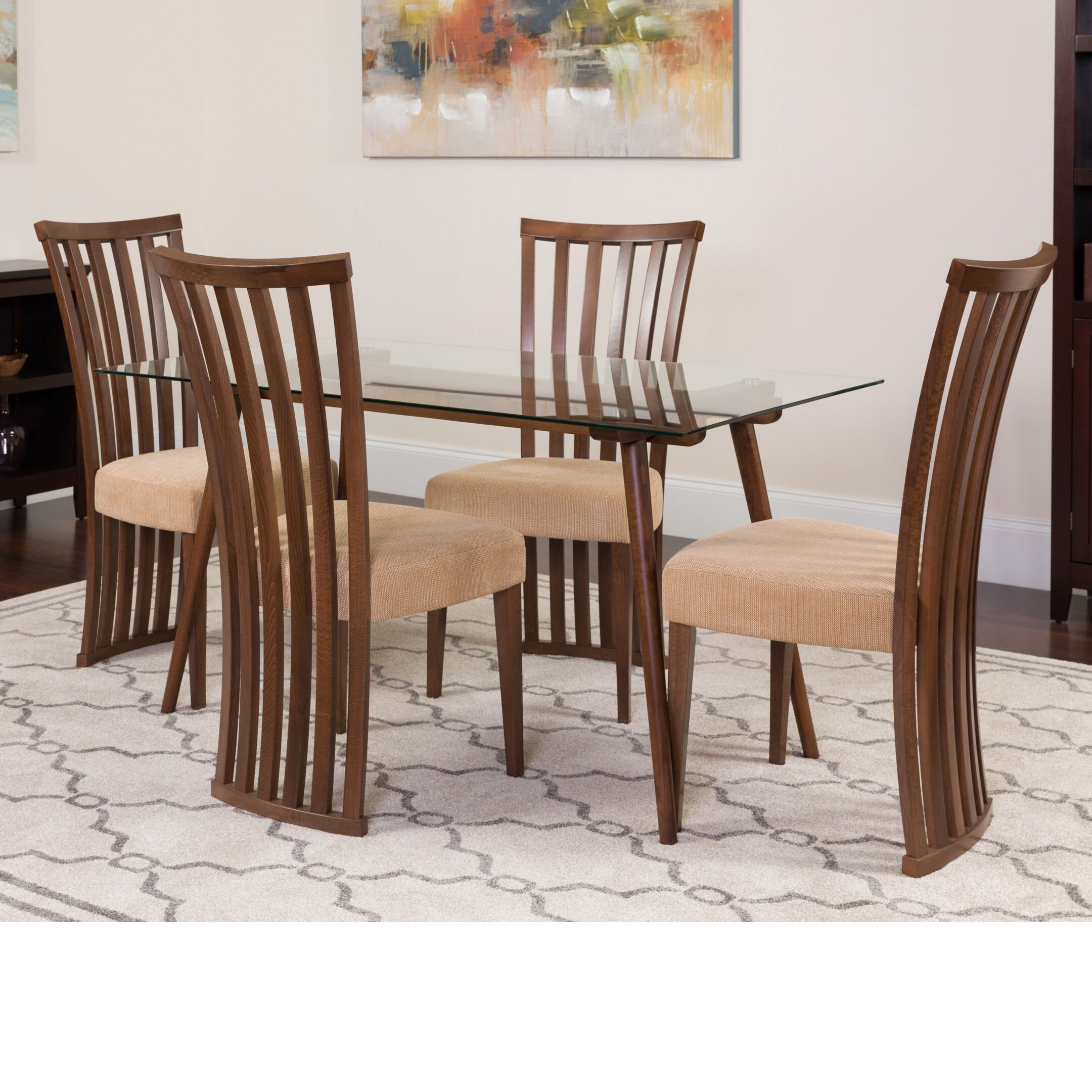 Dining Table Sets Huneycutt 5 Piece Solid Wood Dining Set
