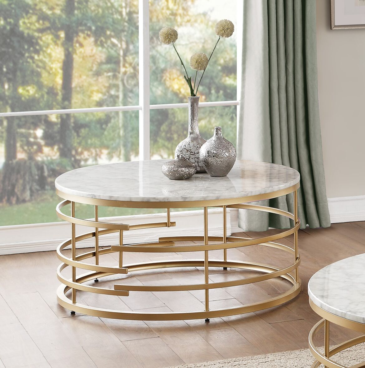 Minerva Coffee Table Table Base Color: Gold