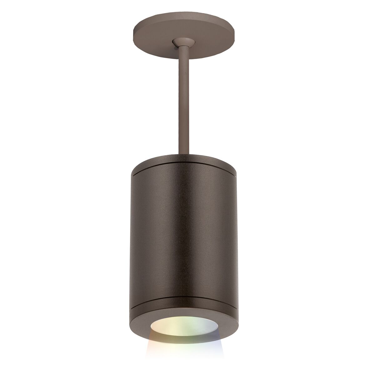 Robyn Color Changing 1-Light Cylinder Pendant Lens Degree: Narrow, Finish: Bronze