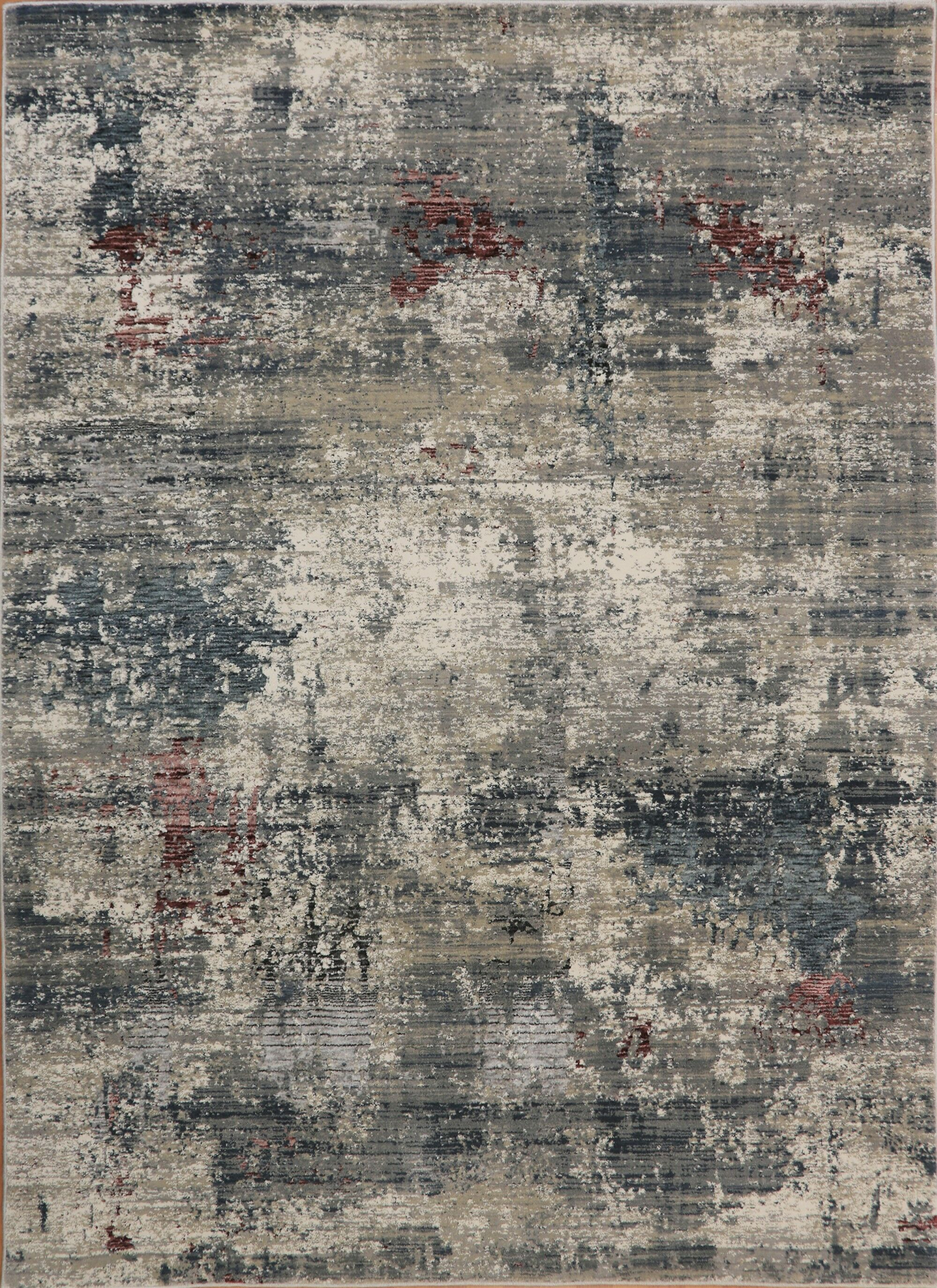 Rademacher Gray/Burgundy Area Rug Rug Size: Rectangle 5'3