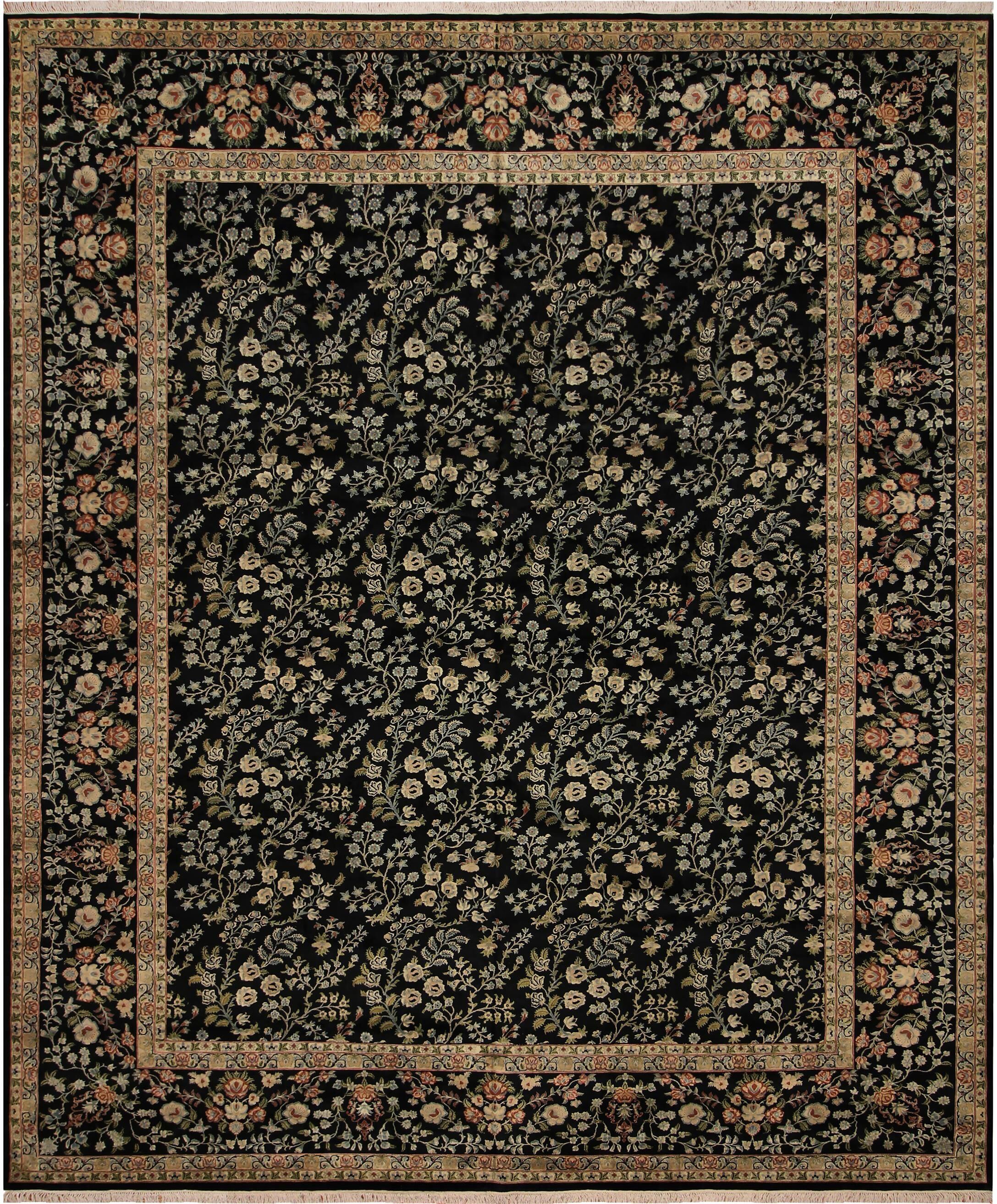 One-of-a-Kind Delron Hand-Knotted Wool Black/Red Area Rug