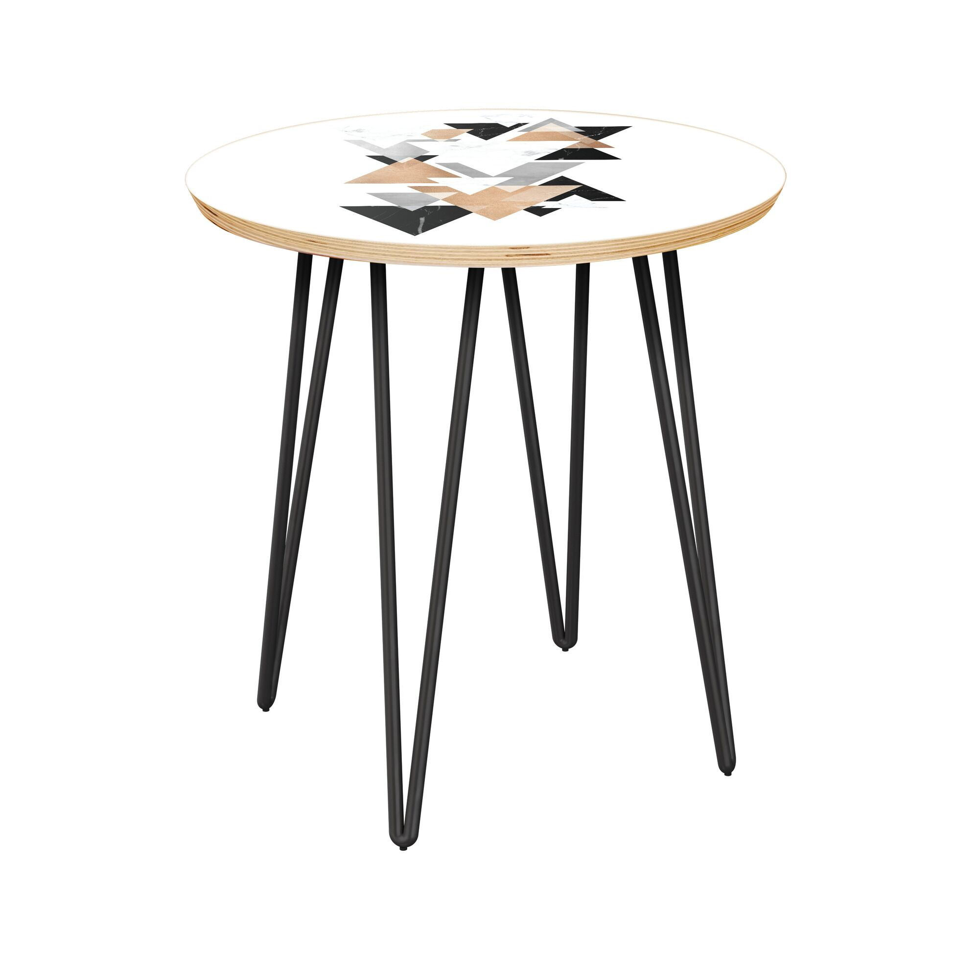 Billings End Table Table Top Color: Natural, Table Base Color: Black