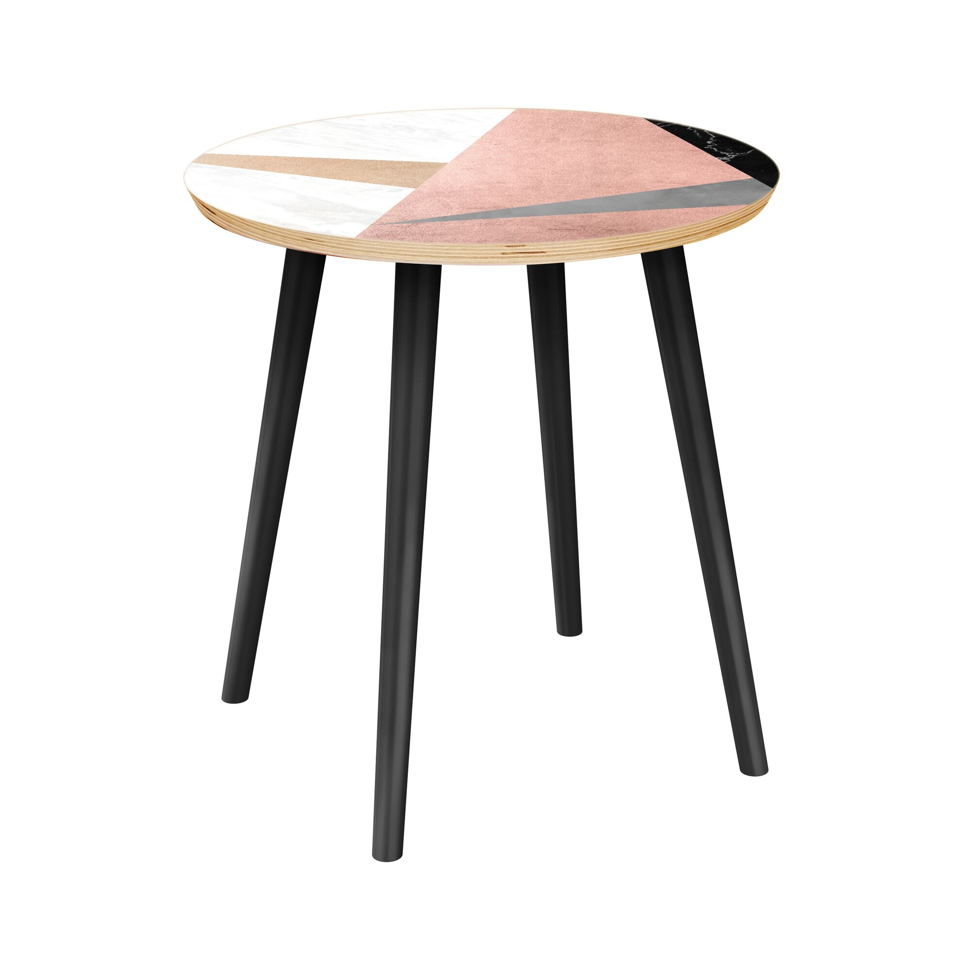 Mcgahey End Table Table Top Color: Natural, Table Base Color: Black