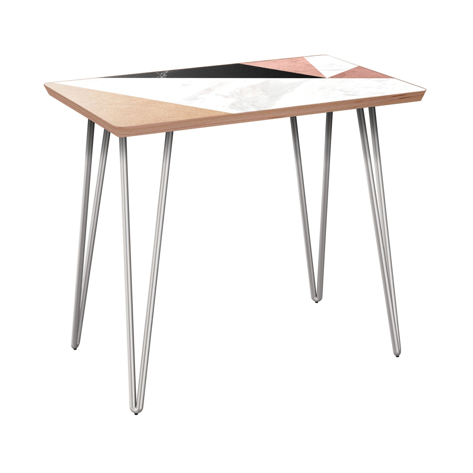 Rozell End Table Table Base Color: Chrome, Table Top Color: Walnut