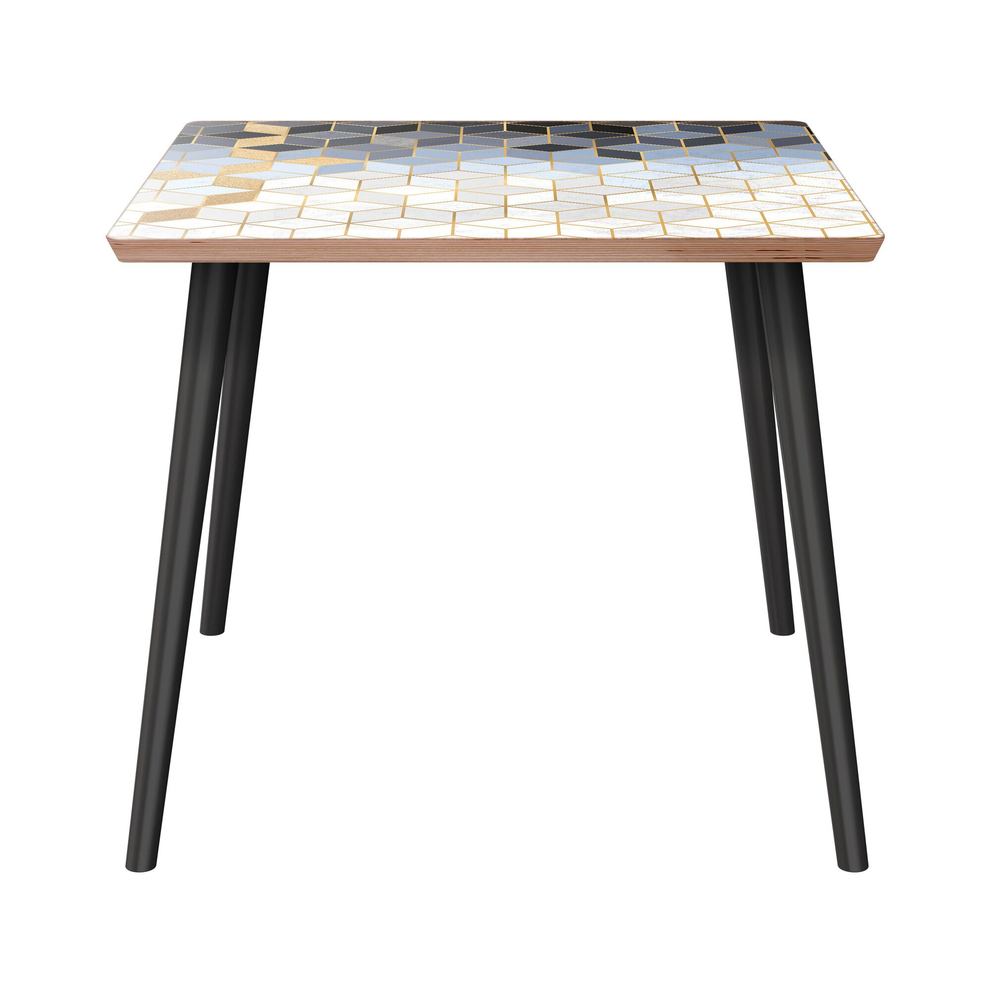Anderle End Table Table Base Color: Black, Table Top Color: Walnut