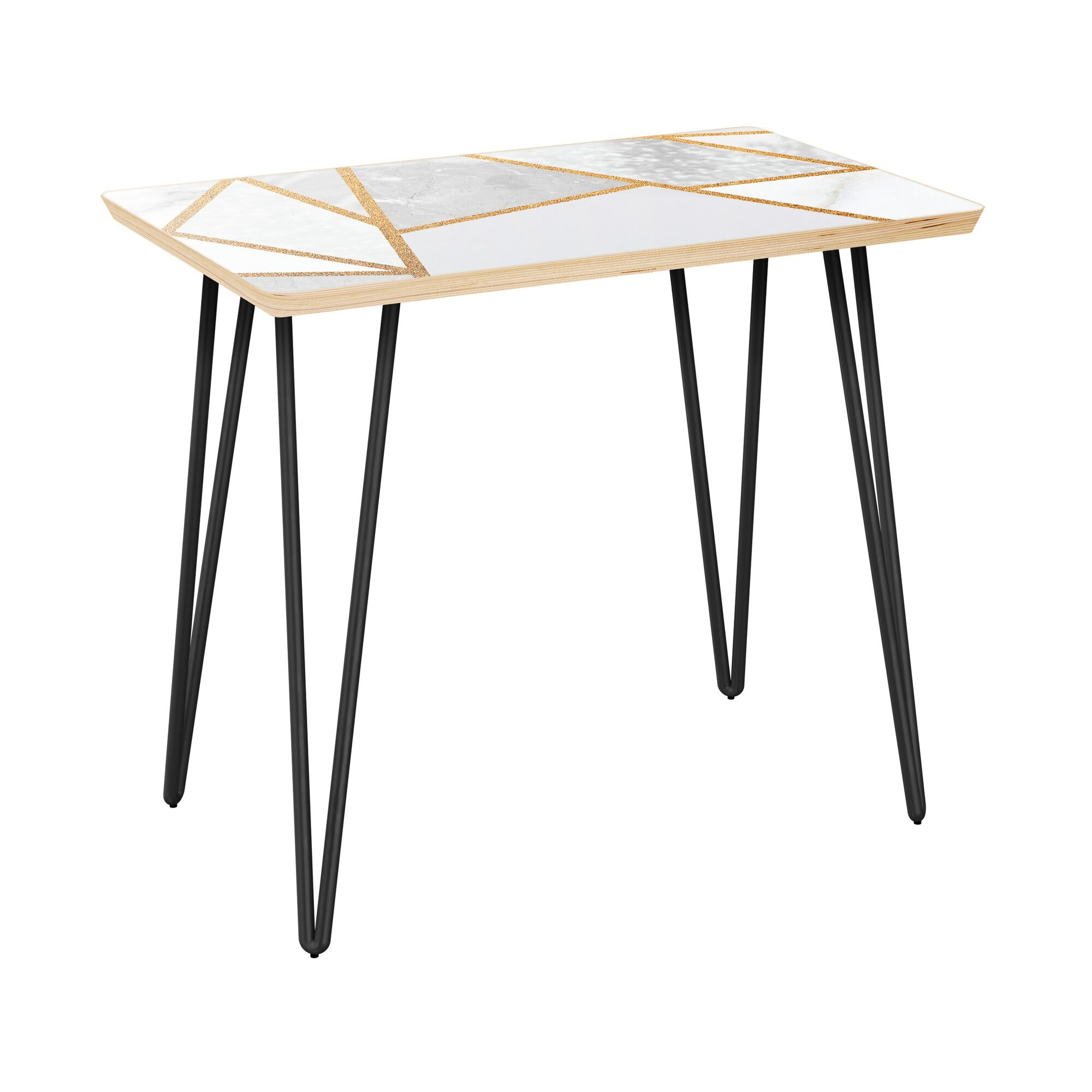 Gutshall End Table Table Top Color: Natural, Table Base Color: Black
