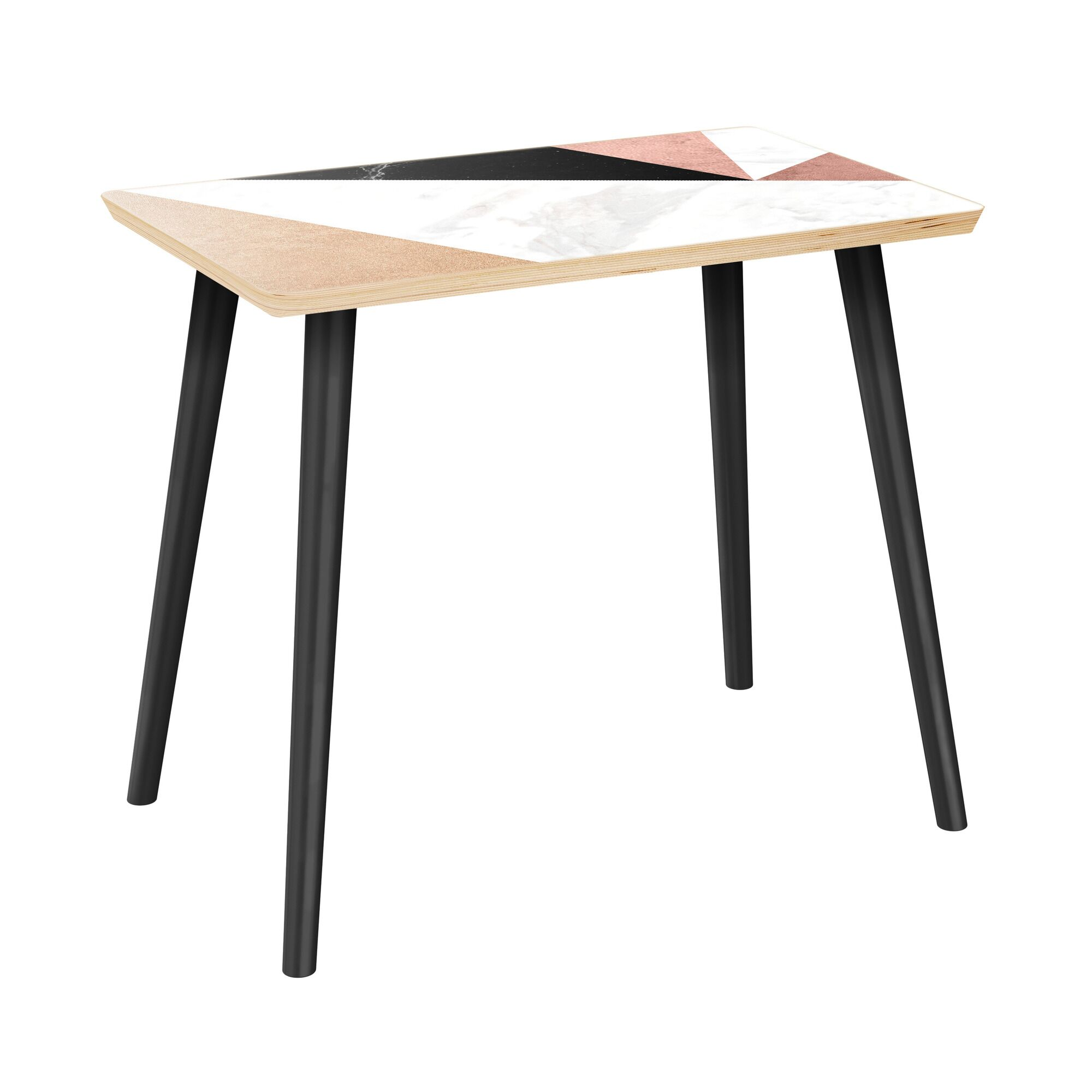 Ruble End Table Table Top Color: Natural, Table Base Color: Black