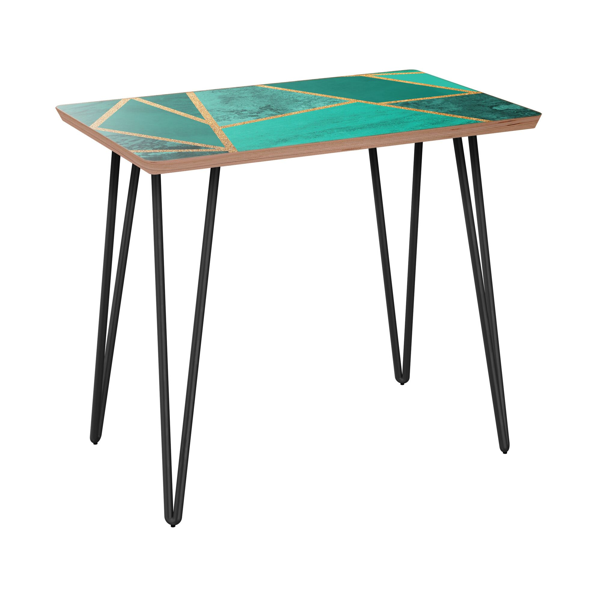 Newtonsville End Table Table Base Color: Black, Table Top Color: Walnut