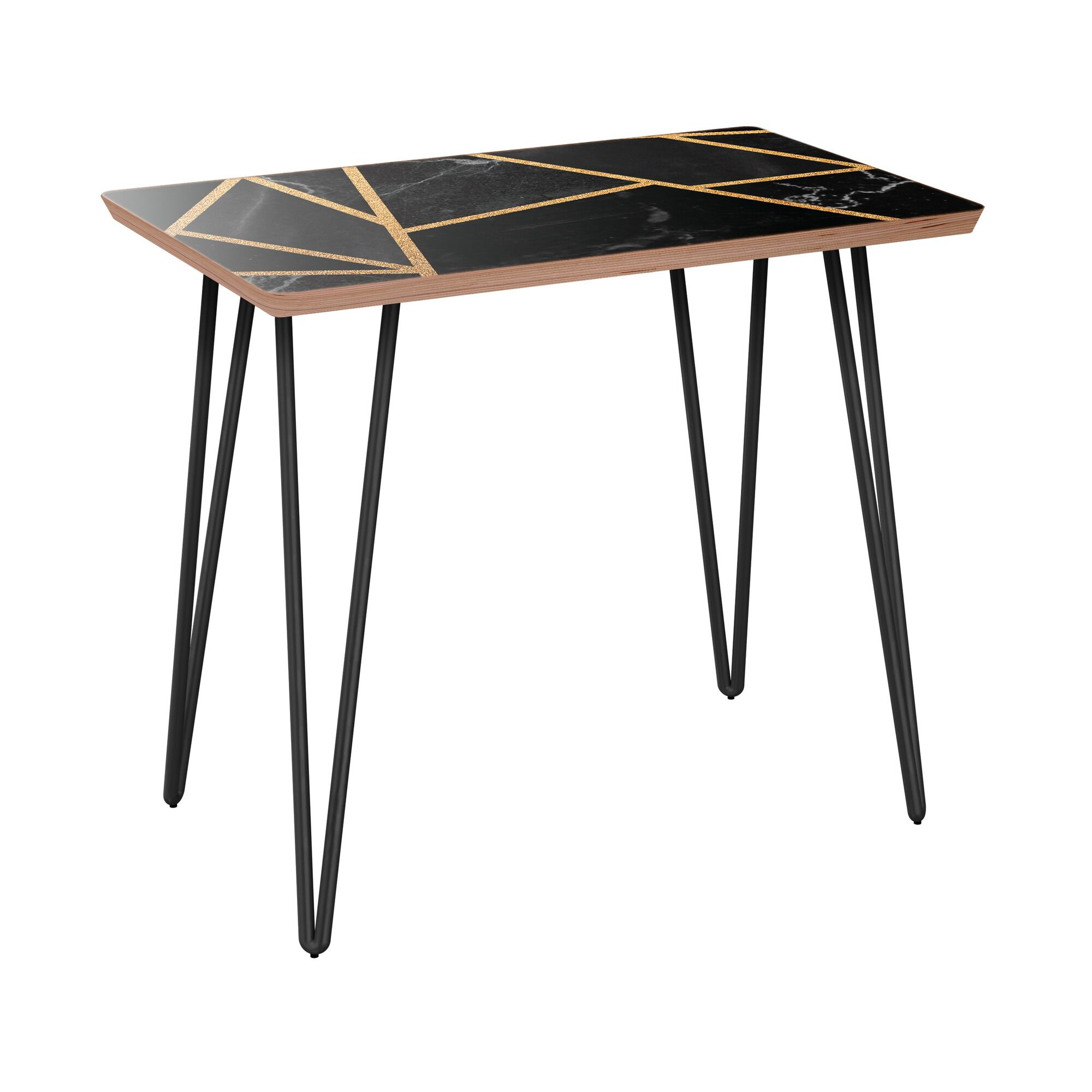 Haag End Table Table Base Color: Black, Table Top Color: Walnut