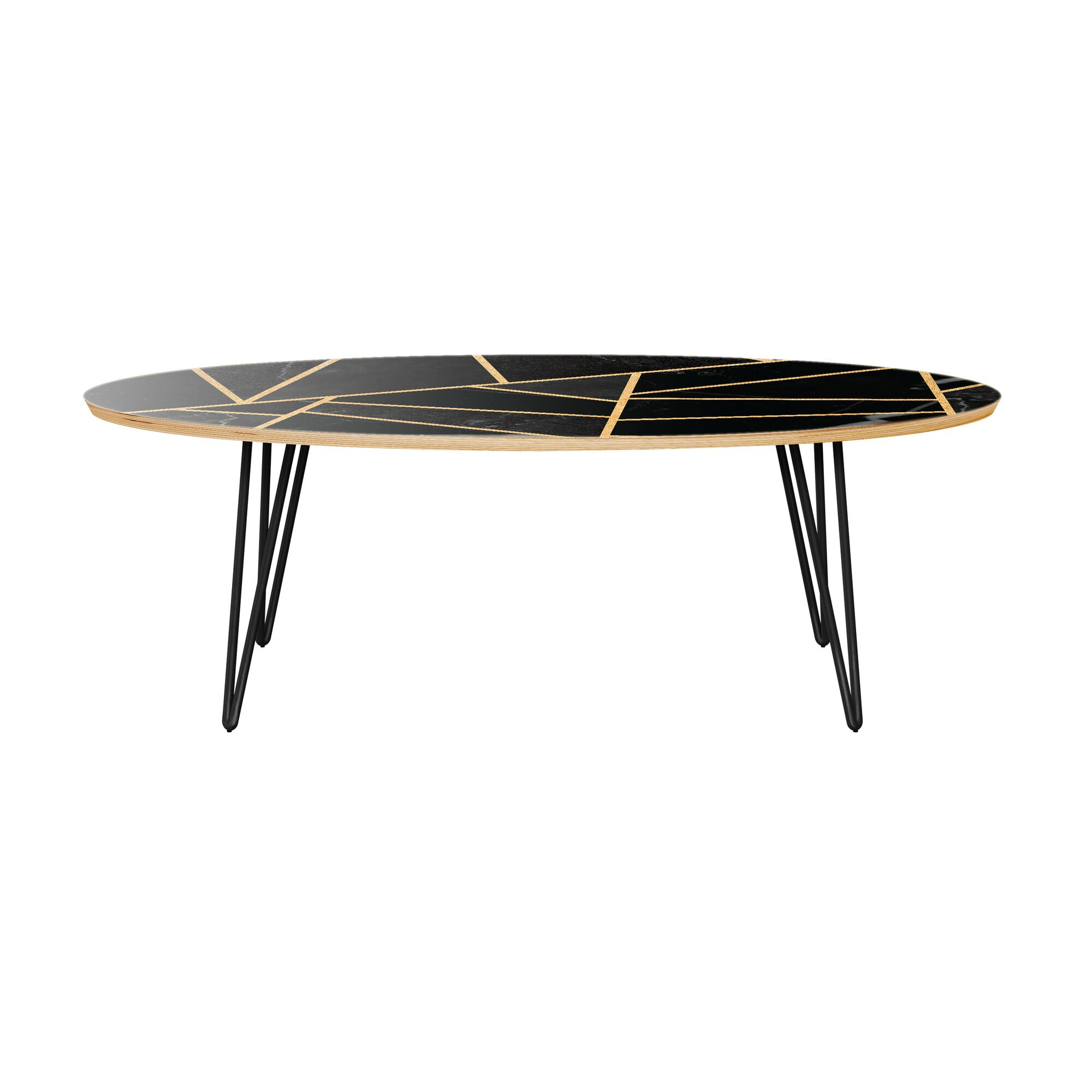 Mcgill Coffee Table Table Base Color: Black, Table Top Color: Natural/Black