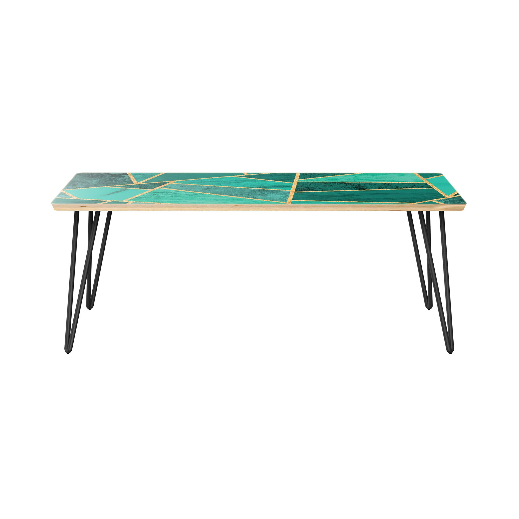 Monroeville Coffee Table Table Top Color: Natural, Table Base Color: Black