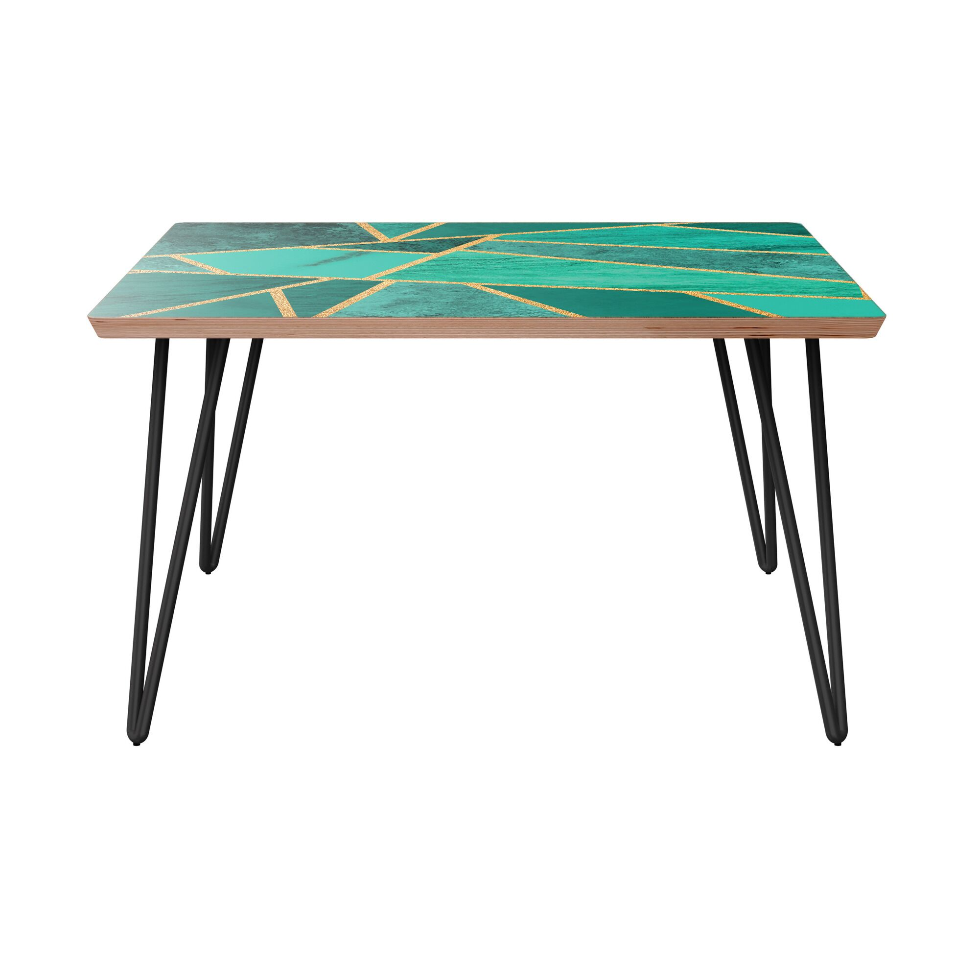 Marienville Coffee Table Table Top Color: Walnut, Table Base Color: Black