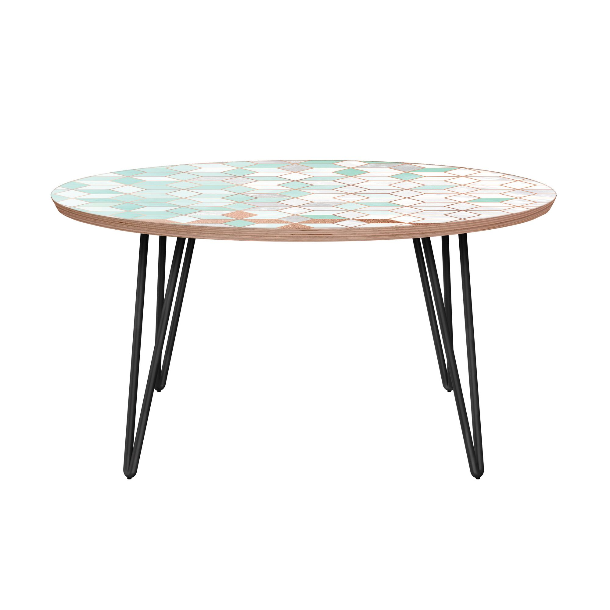Graddy Coffee Table Table Base Color: Black, Table Top Color: Walnut