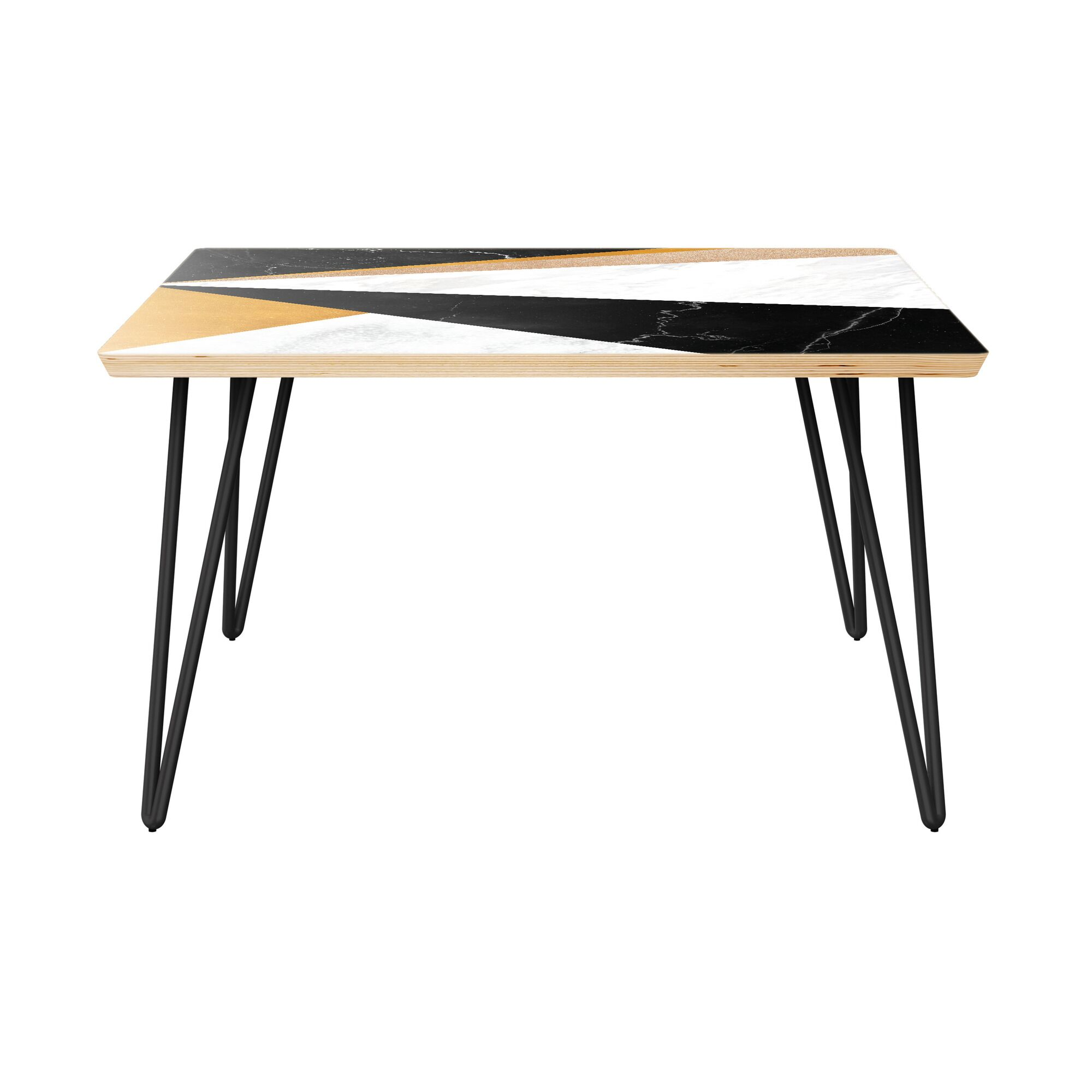 Goudy Coffee Table Table Top Color: Natural, Table Base Color: Black