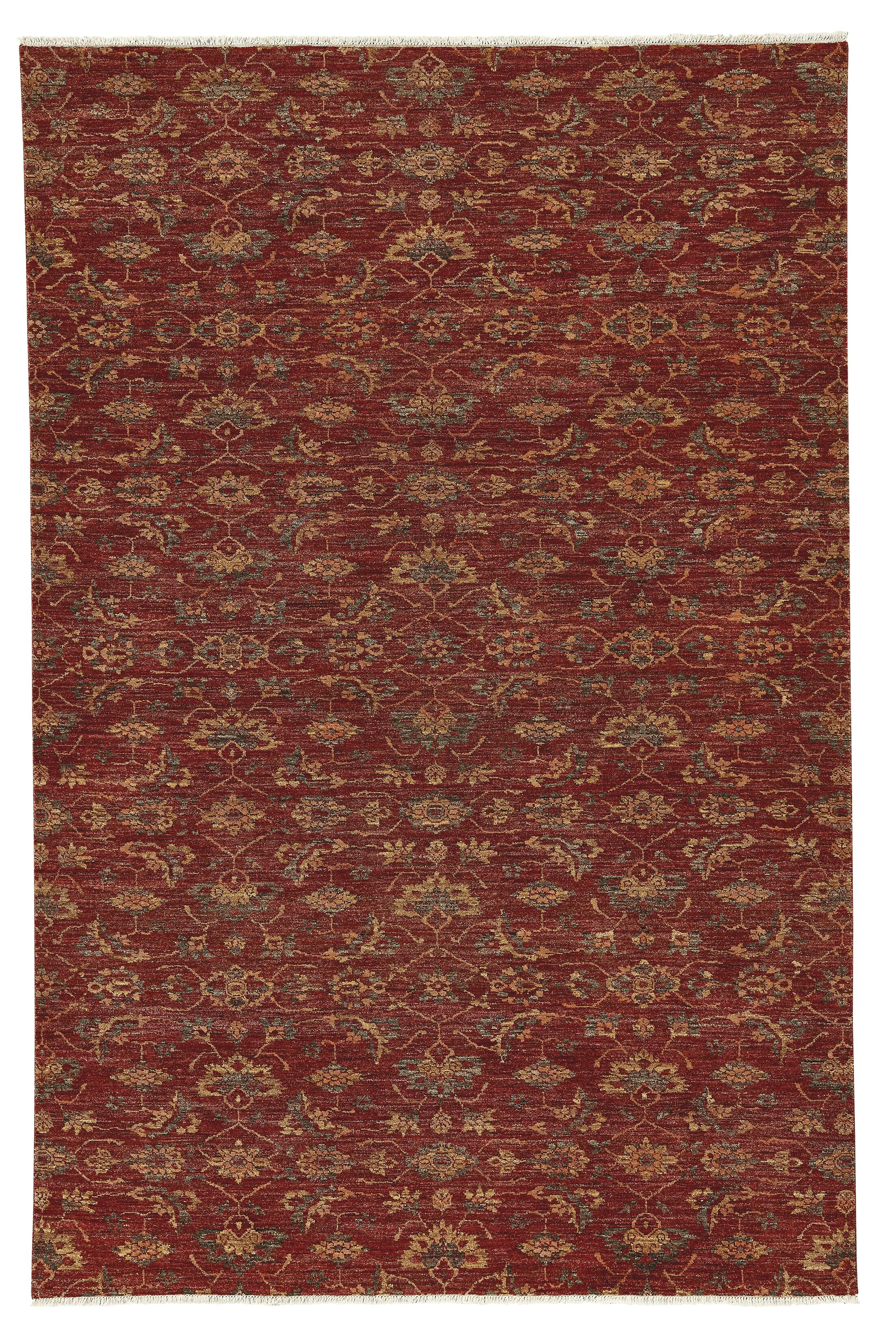 Eltingville Hand-Knotted Wool Sienna Area Rug Rug Size: Rectangle 9' x 12'