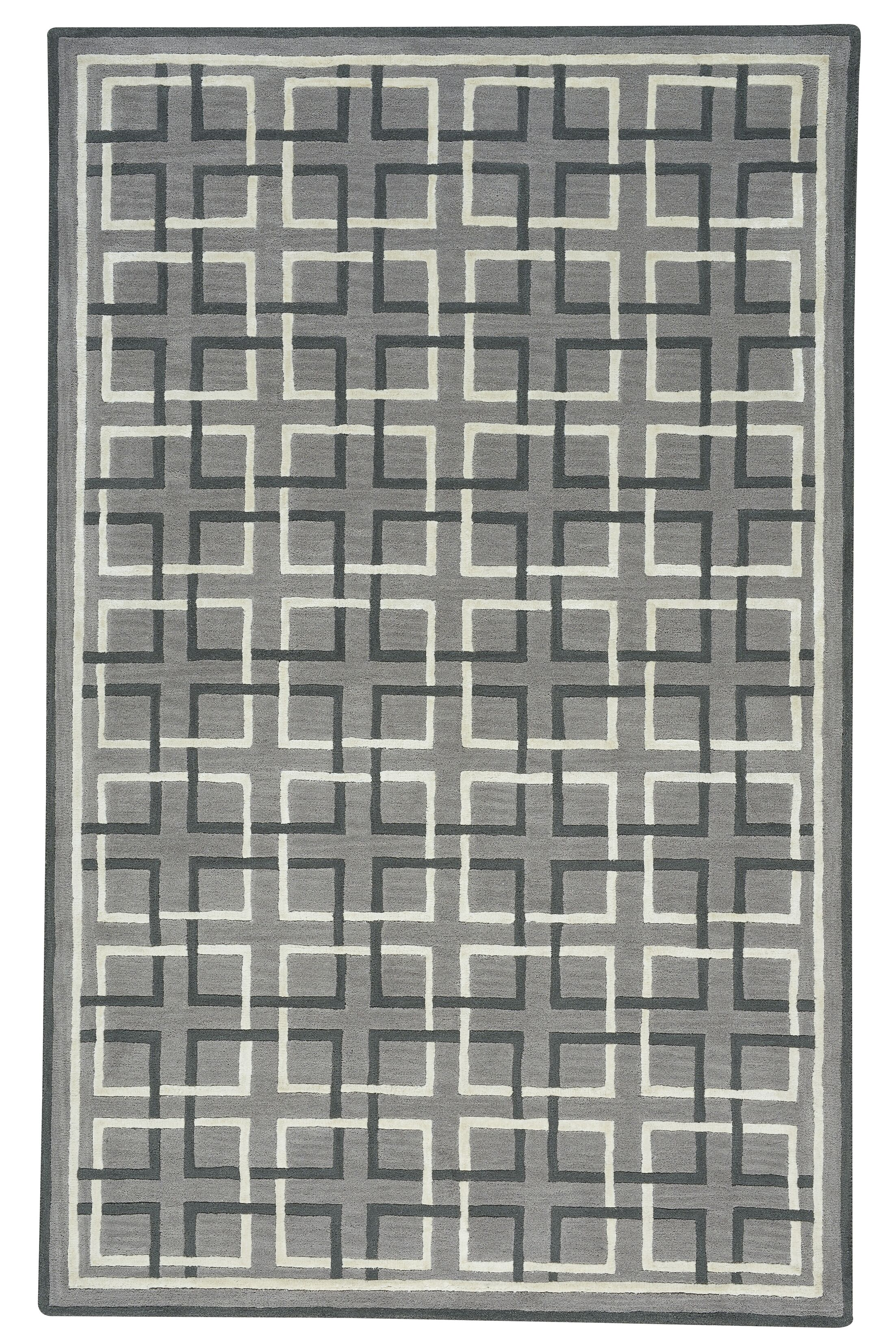 Wieland Framework Hand-Tufted Gray Area Rug Rug Size: Rectangle 8' x 10'