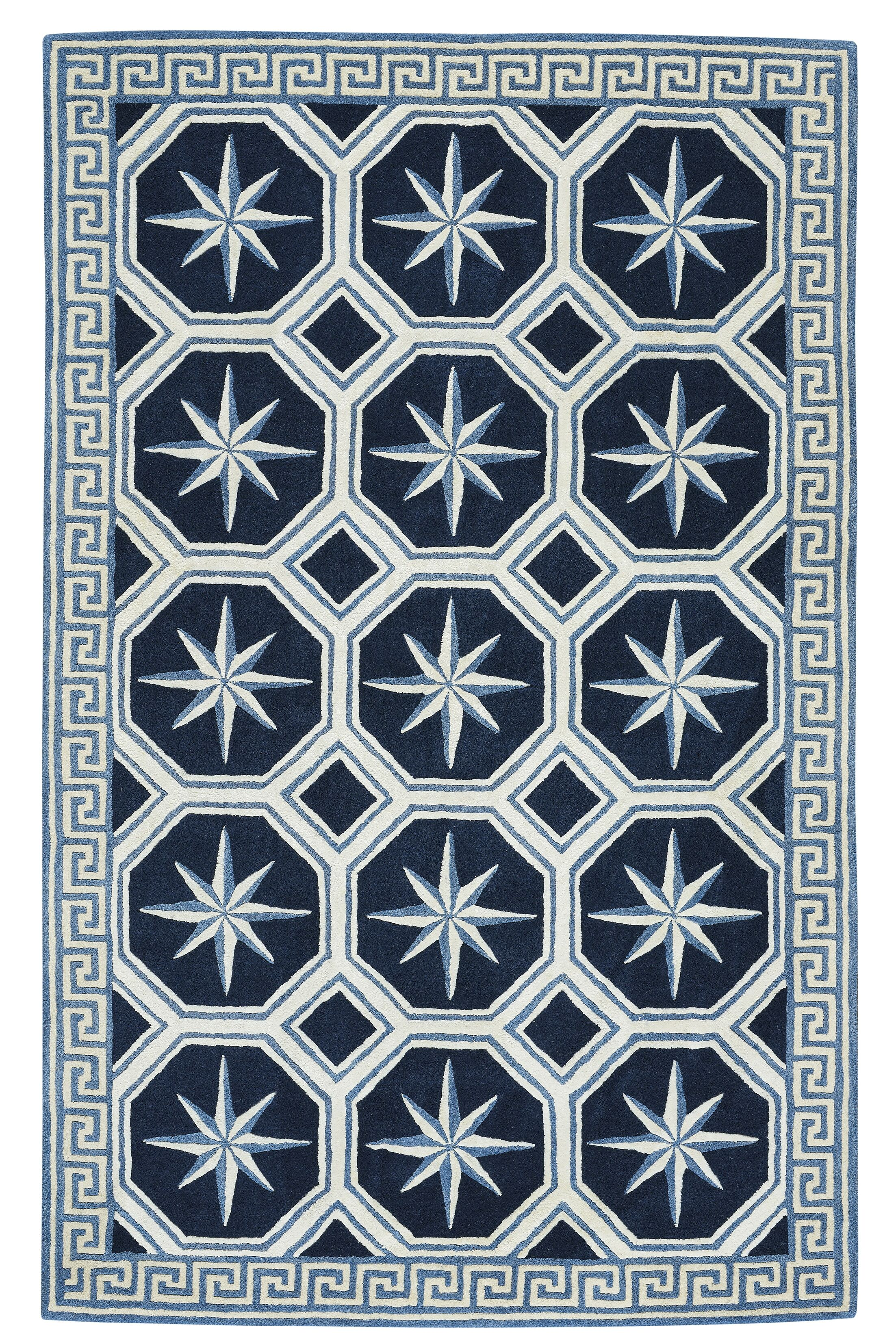 Wieland Hand-Tufted Blue Area Rug Rug Size: Rectangle 9'  x 12'