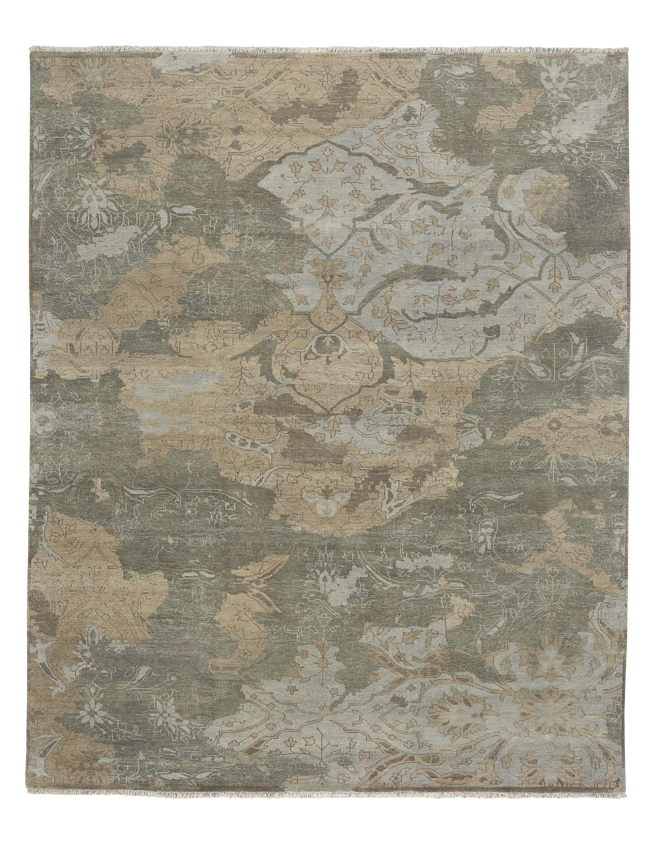 Leonia Hand-Knotted Wool Ash Area Rug Rug Size: Rectangle 5' x 8'