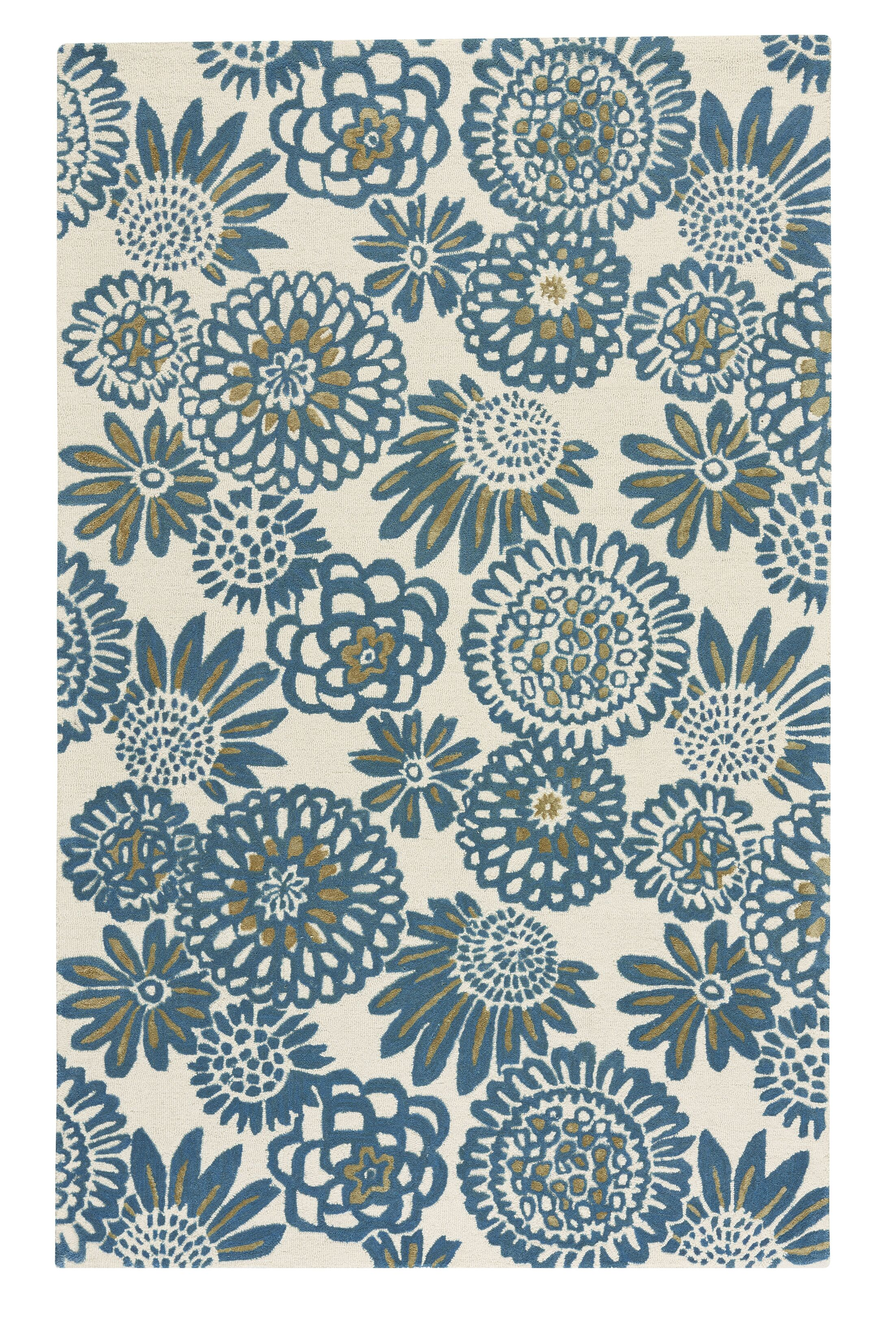 Melzig Genevieve Gorder Pompon Hand-Tufted Blue Area Rug Rug Size: Rectangle 8' x 10'