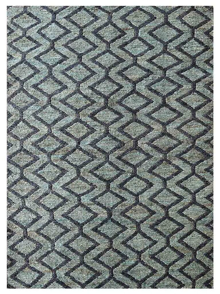 Ry Hand-Knotted Green/Charcoal Indoor/Outdoor Area Rug Rug Size: Rectangle 8' x 10'