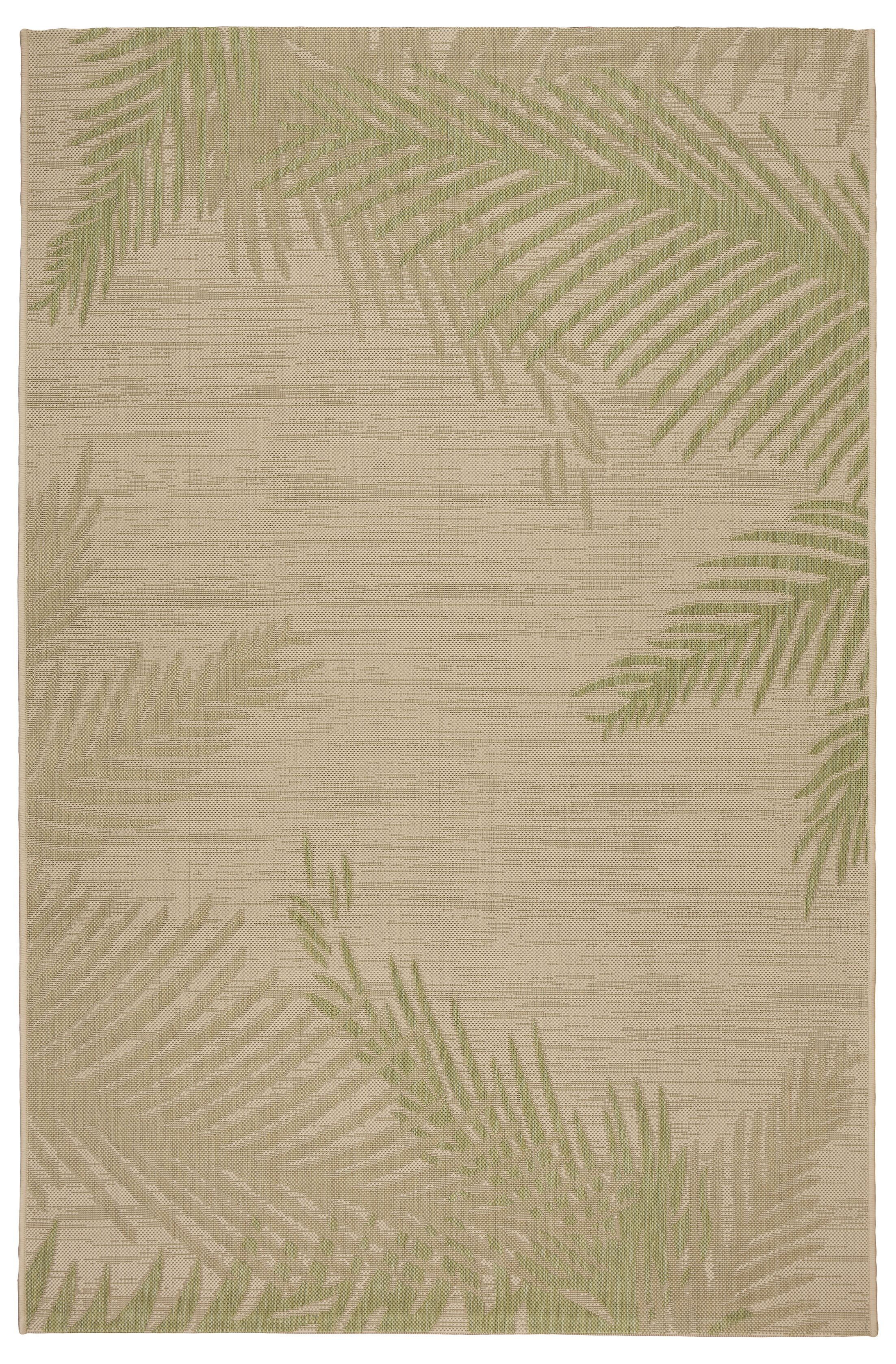 Weilers Verdant Palms Beige/Green Indoor/Outdoor Area Rug Rug Size: Rectangle 7'9