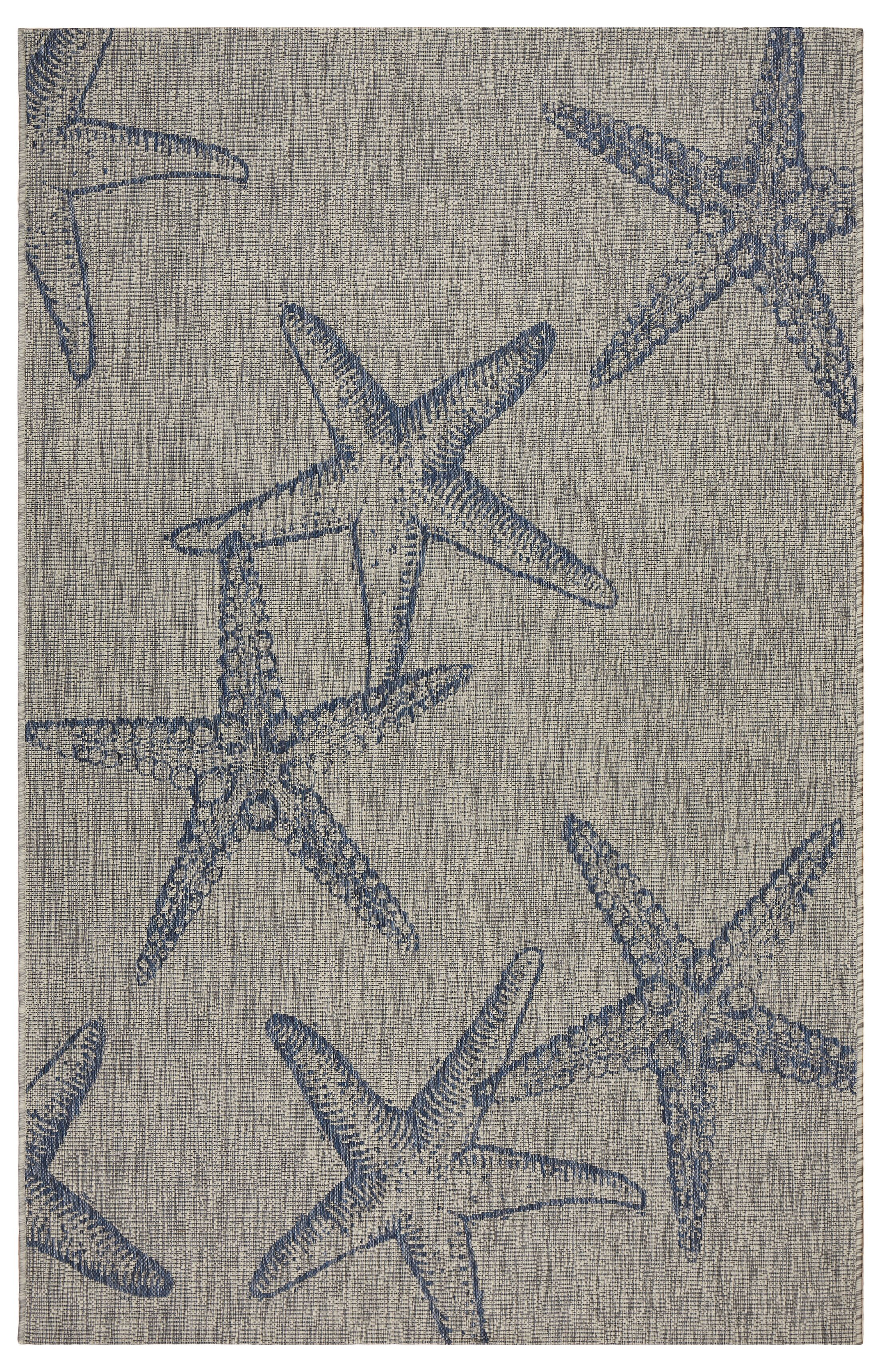 Christiane Gray/Navy Indoor/Outdoor Area Rug Rug Size: Rectangle 5' x 7'