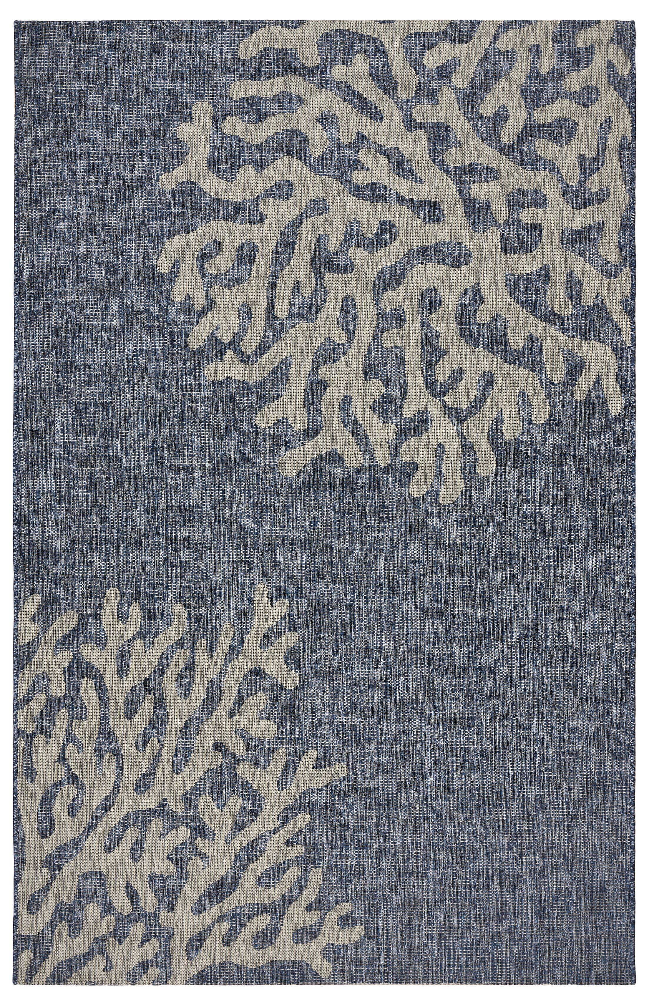 Christiane Reef Blue/Gray Indoor/Outdoor Area Rug Rug Size: Rectangle 7'9