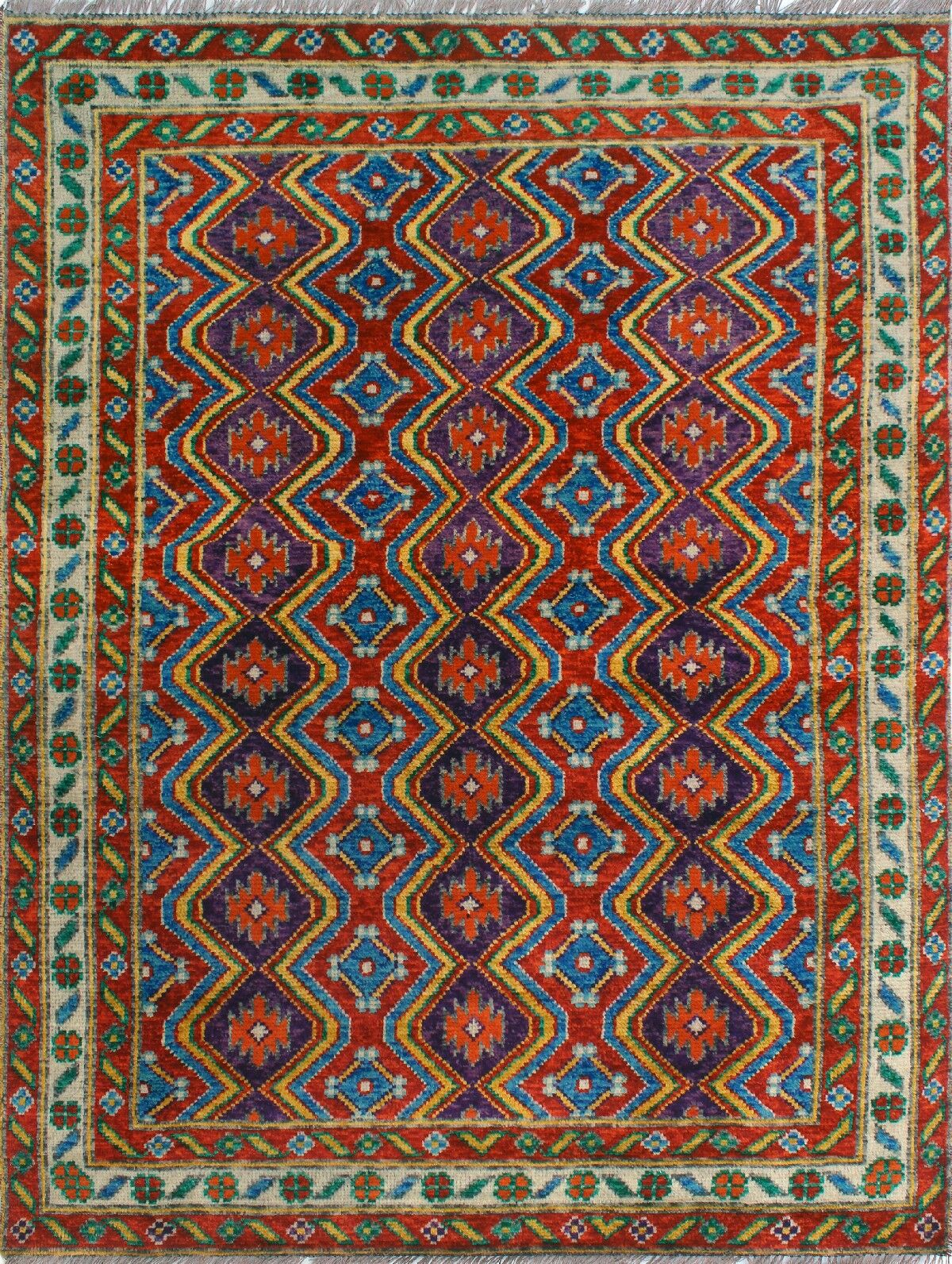 One-of-a-Kind Millender Tulinagwe Hand-Knotted Wool Rust Area Rug