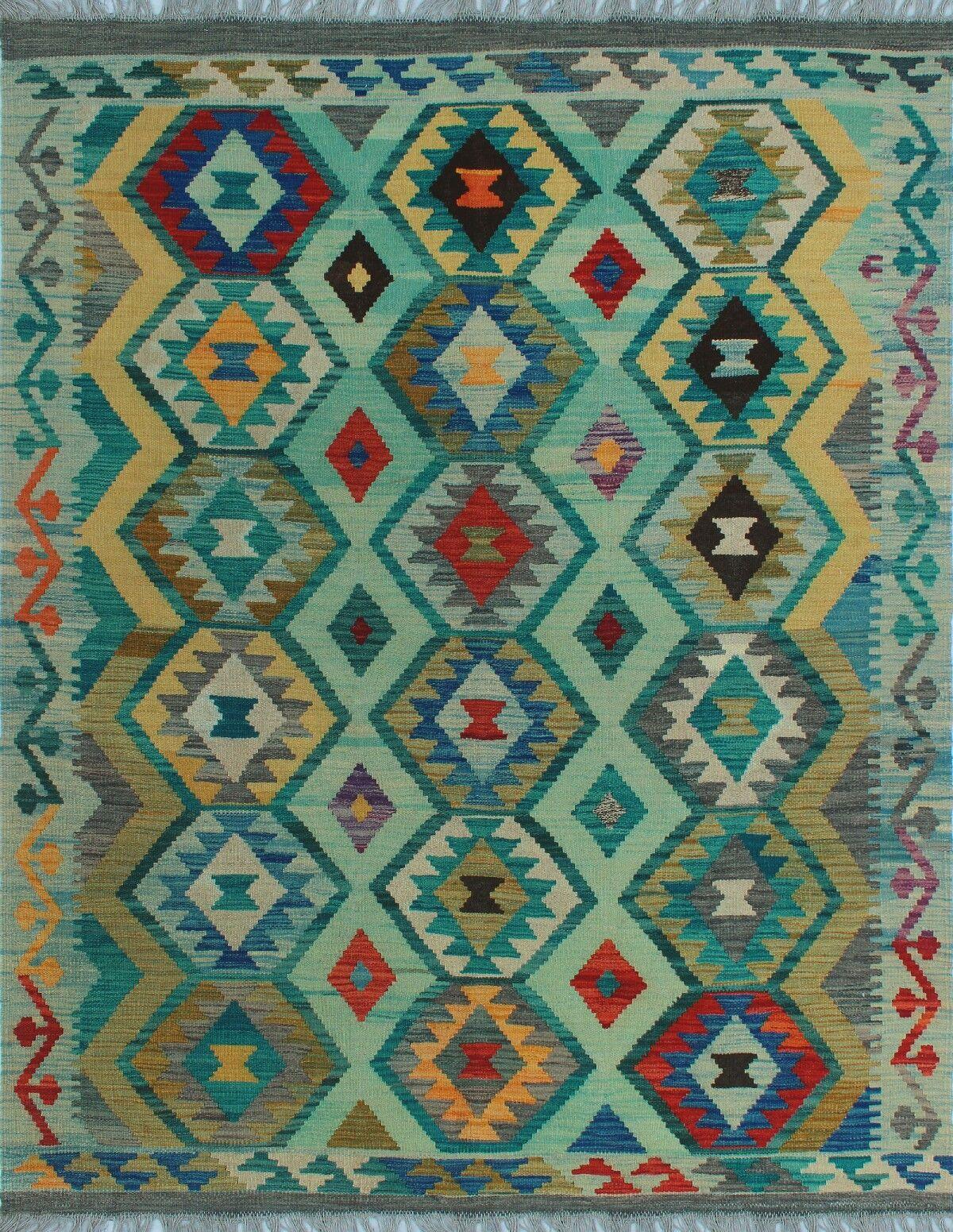 One-of-a-Kind Renita Kilim Hand-woven Wool Green Area Rug