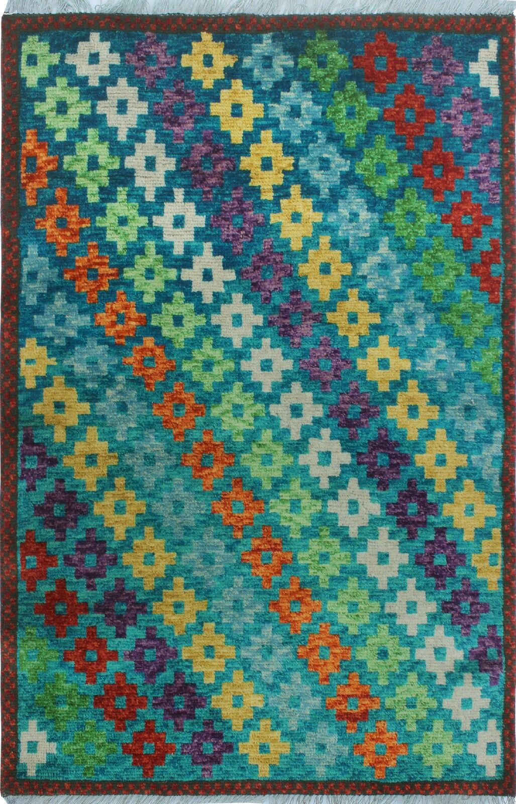 One-of-a-Kind Millender Uchenna Hand-Knotted Wool Green Area Rug