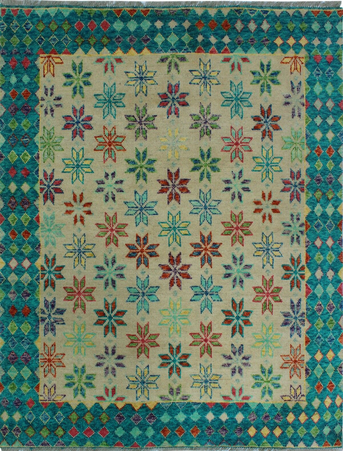 One-of-a-Kind Millender Trenton Hand-Knotted Wool Blue/Beige Are Rug