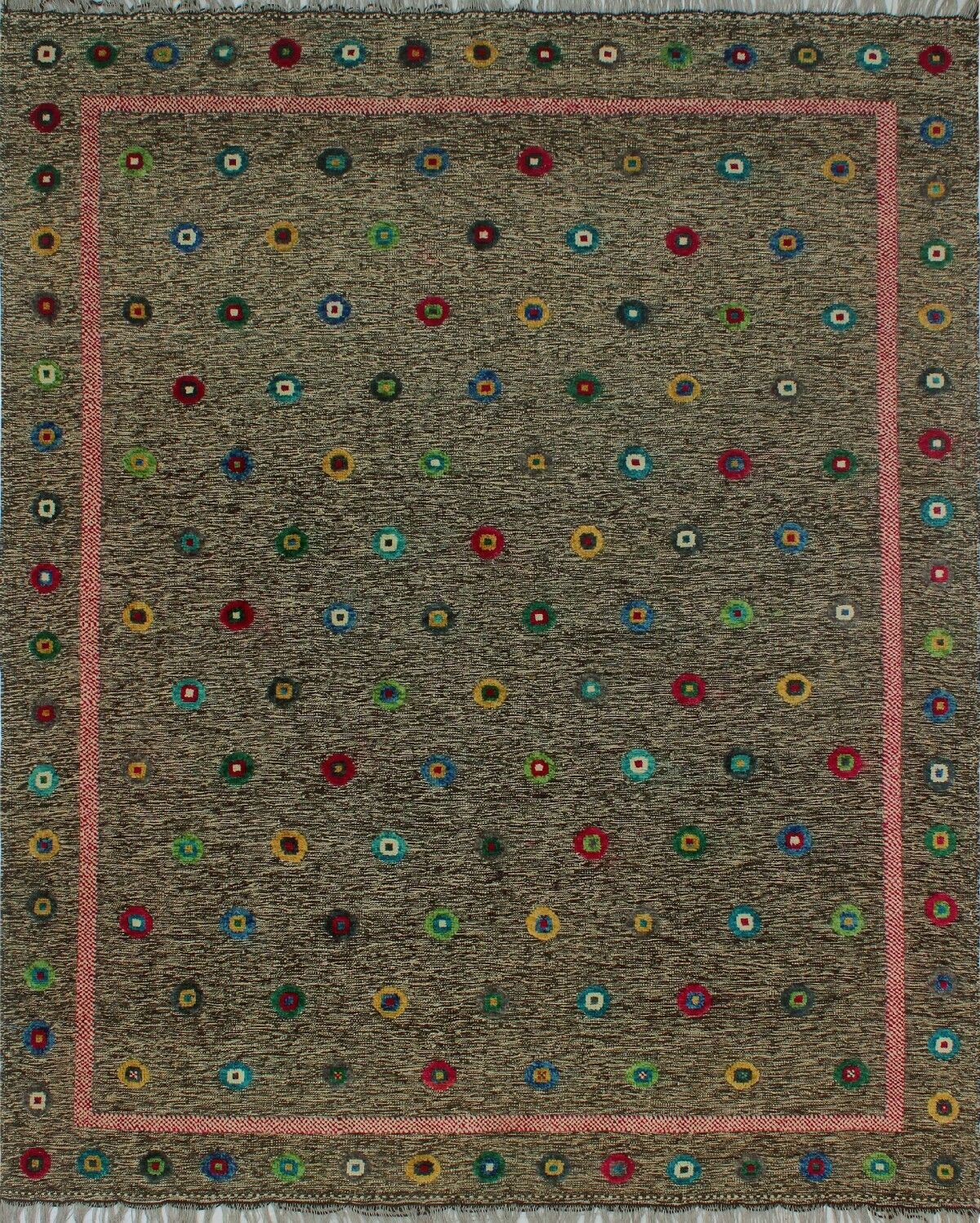 One-of-a-Kind Milliron Kilim Abagbe Hand-Woven Brown Are Rug