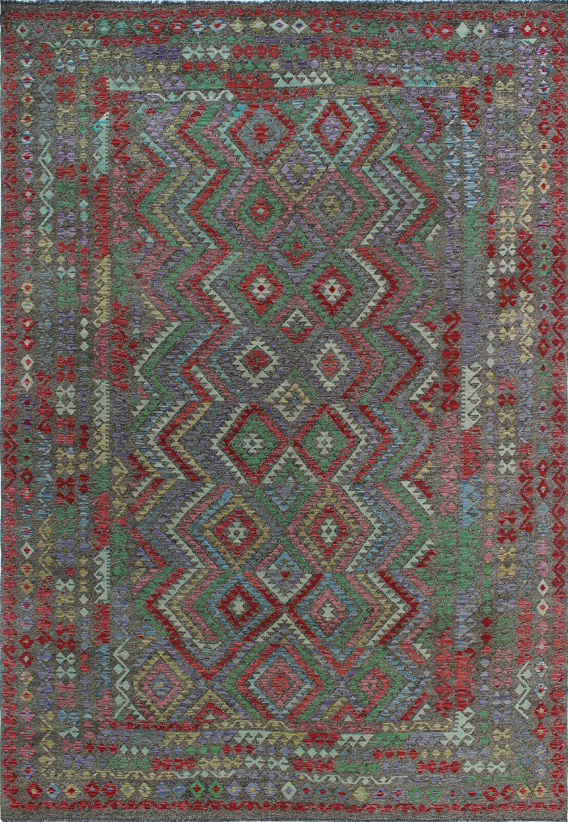 One-of-a-Kind Renita Kilim Hand-woven Wool Blue/Red Area Rug