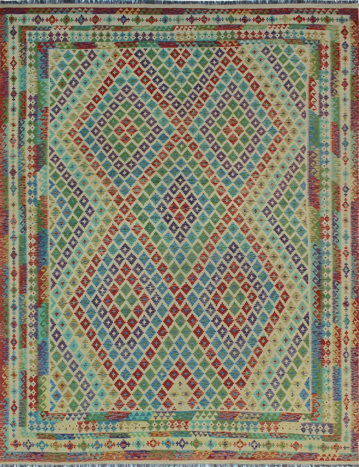 One-of-a-Kind Renita Kilim Hand-woven Wool Beige Area Rug