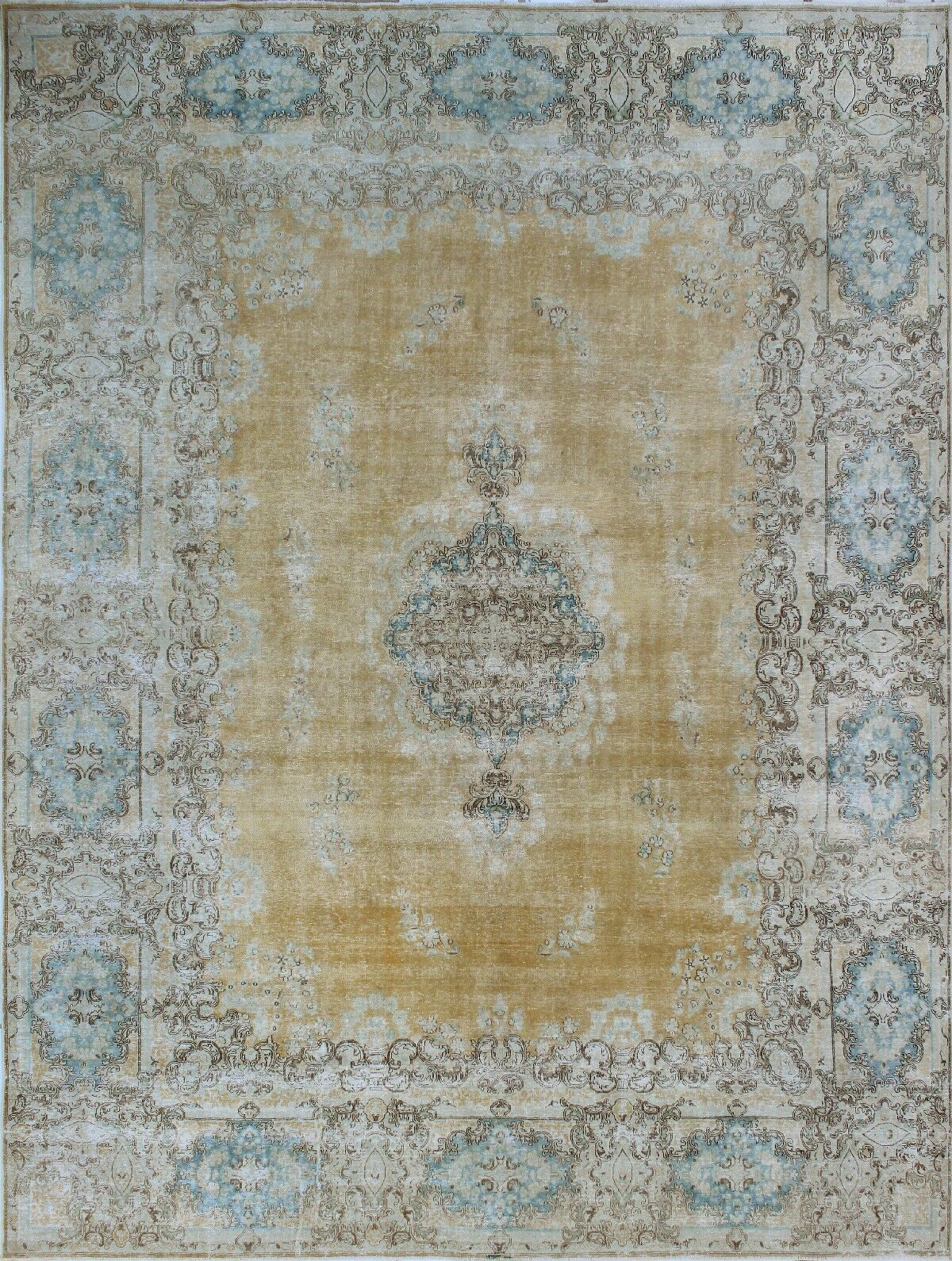 One-of-a-Kind Millner Distressed Aduke Hand-Knotted Wool Gray/Brown Are Rug