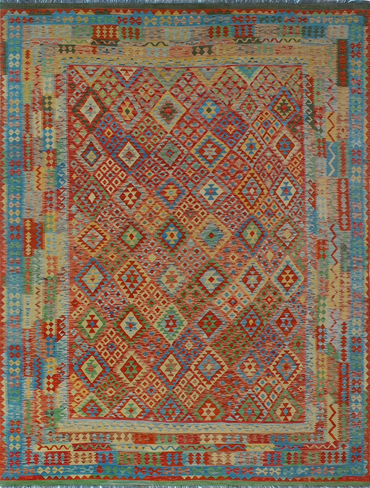 One-of-a-Kind Renita Kilim Hand-woven Wool Yellow/Red Area Rug