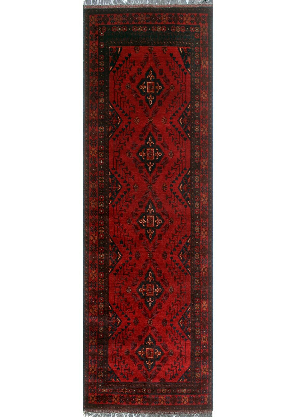 One-of-a-Kind Millar Thema Hand-Knotted Wool Red Are Rug