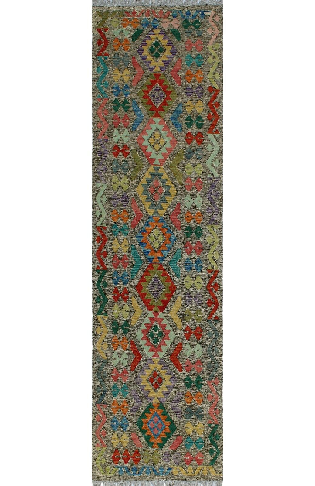 One-of-a-Kind Renita Kilim Hand-Woven Wool Gray Area Rug